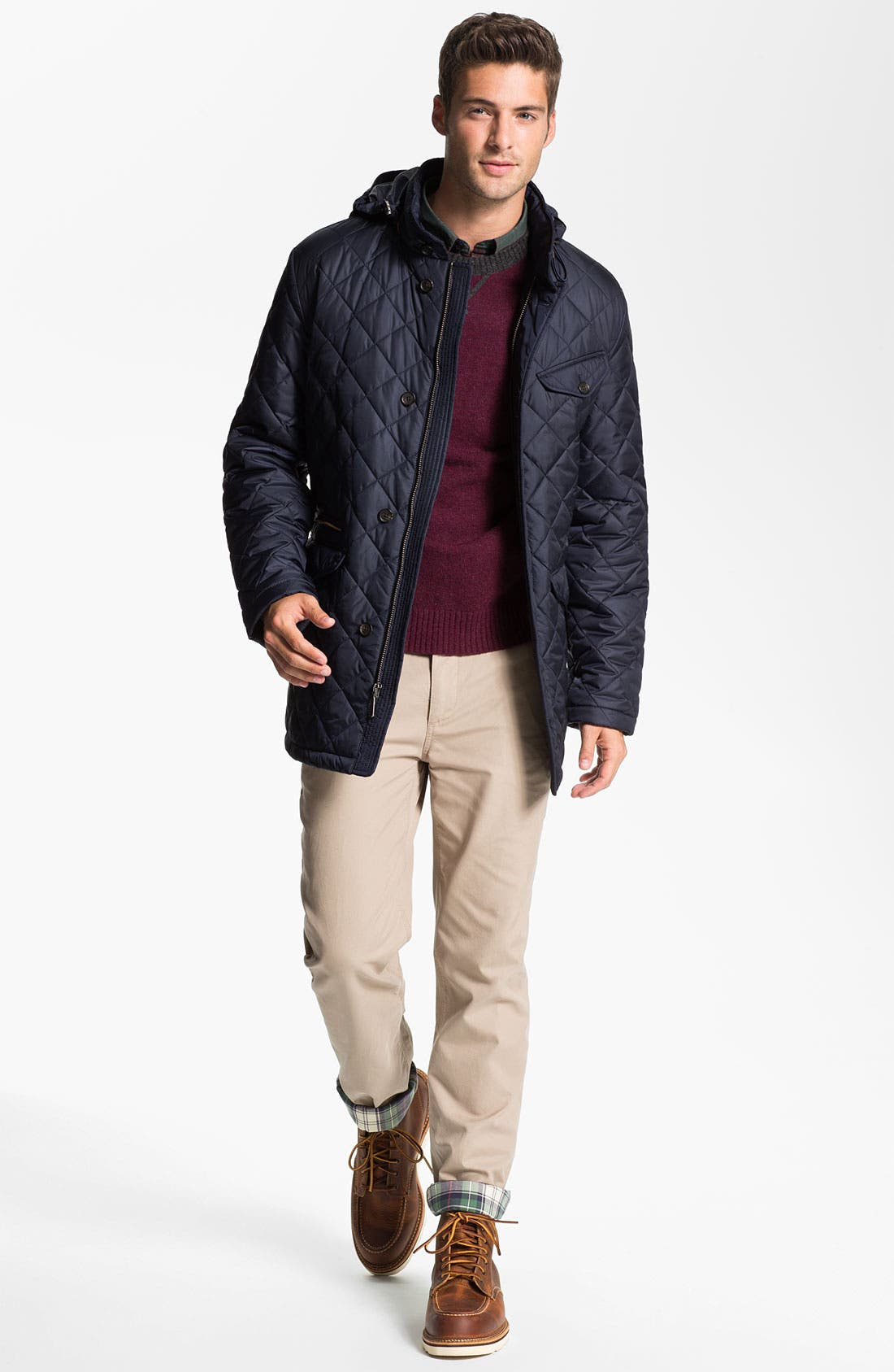 Alternate Image 4  - Brooks Brothers Quilted Walking Jacket