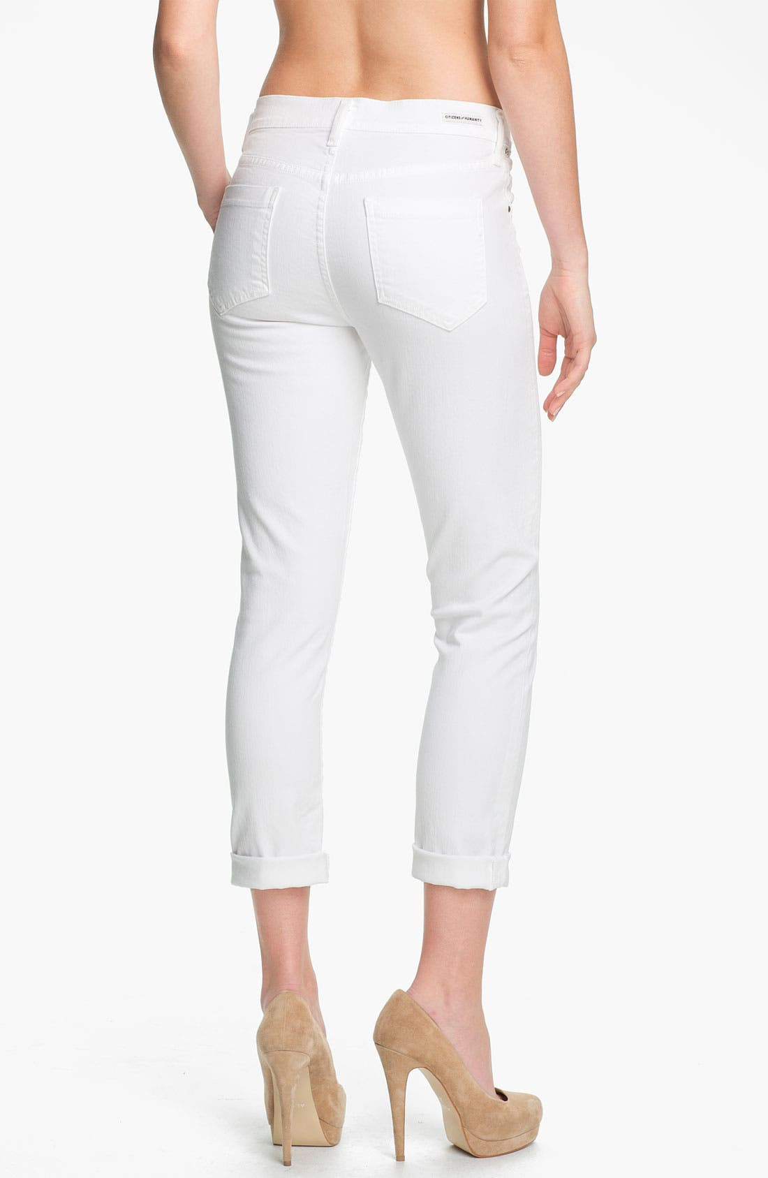 Alternate Image 2  - Citizens of Humanity 'Carlton' High-Waist Slim Straight Leg Ankle Jeans (Santorini)