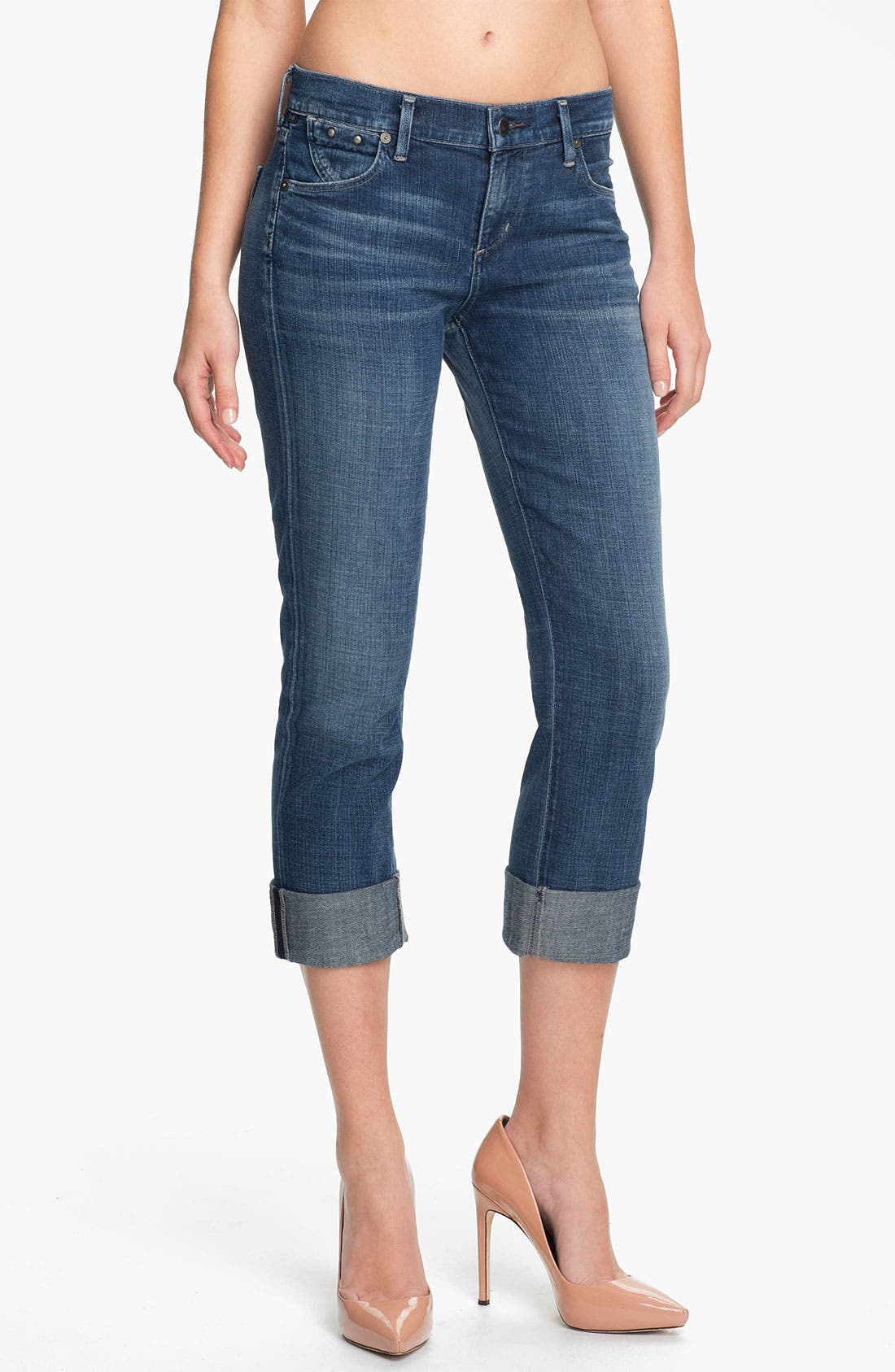 Alternate Image 1 Selected - Citizens of Humanity 'Dani' Crop Straight Leg Jeans (Wedgewood)