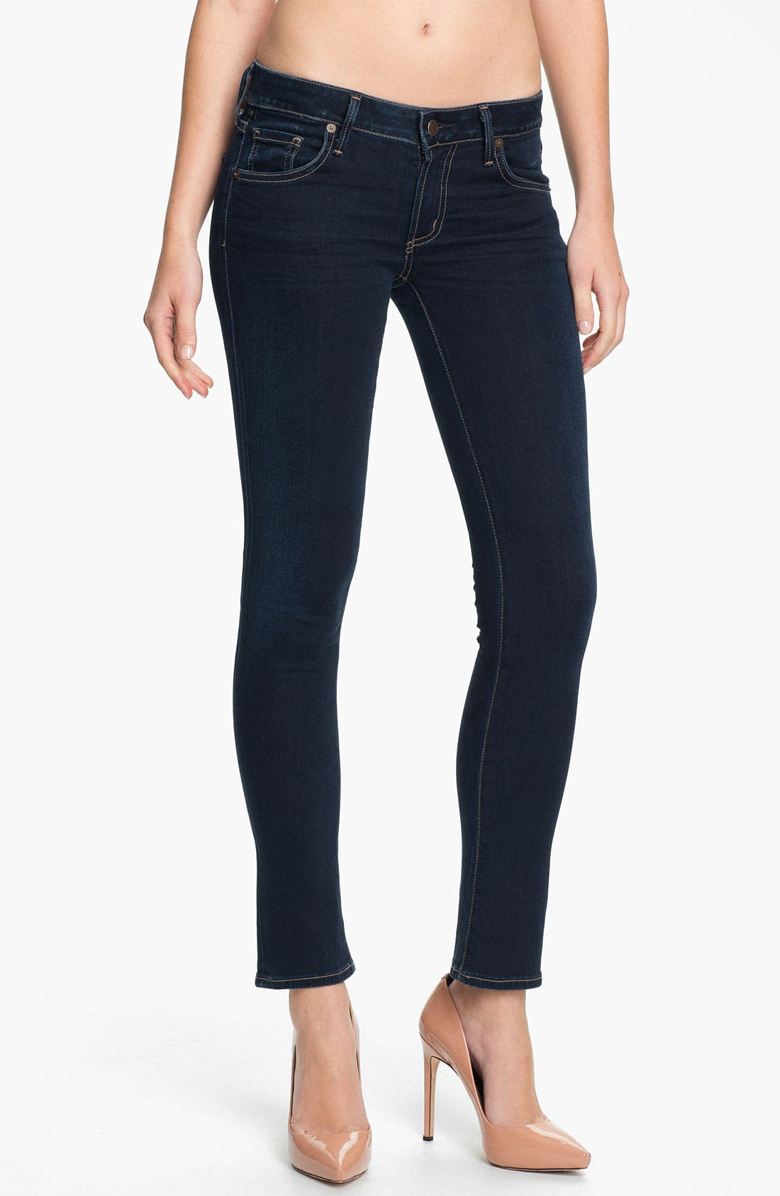 Alternate Image 1 Selected - Citizens of Humanity 'Racer' Crop Skinny Jeans (Starry)