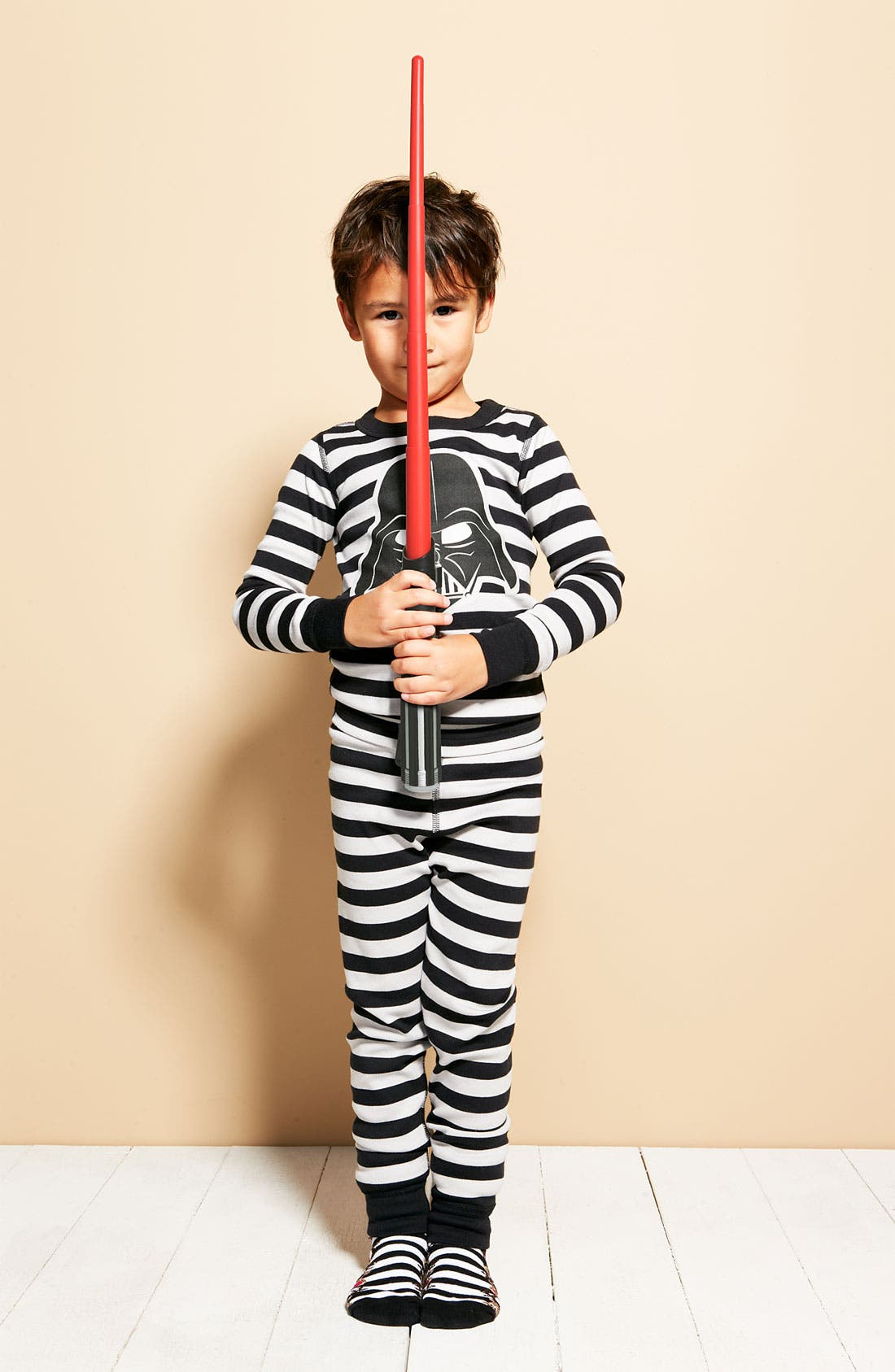 Alternate Image 2  - Hanna Andersson Darth Vader™ Organic Cotton Fitted Two-Piece Pajamas (Toddler Boys, Little Boys & Big Boys)