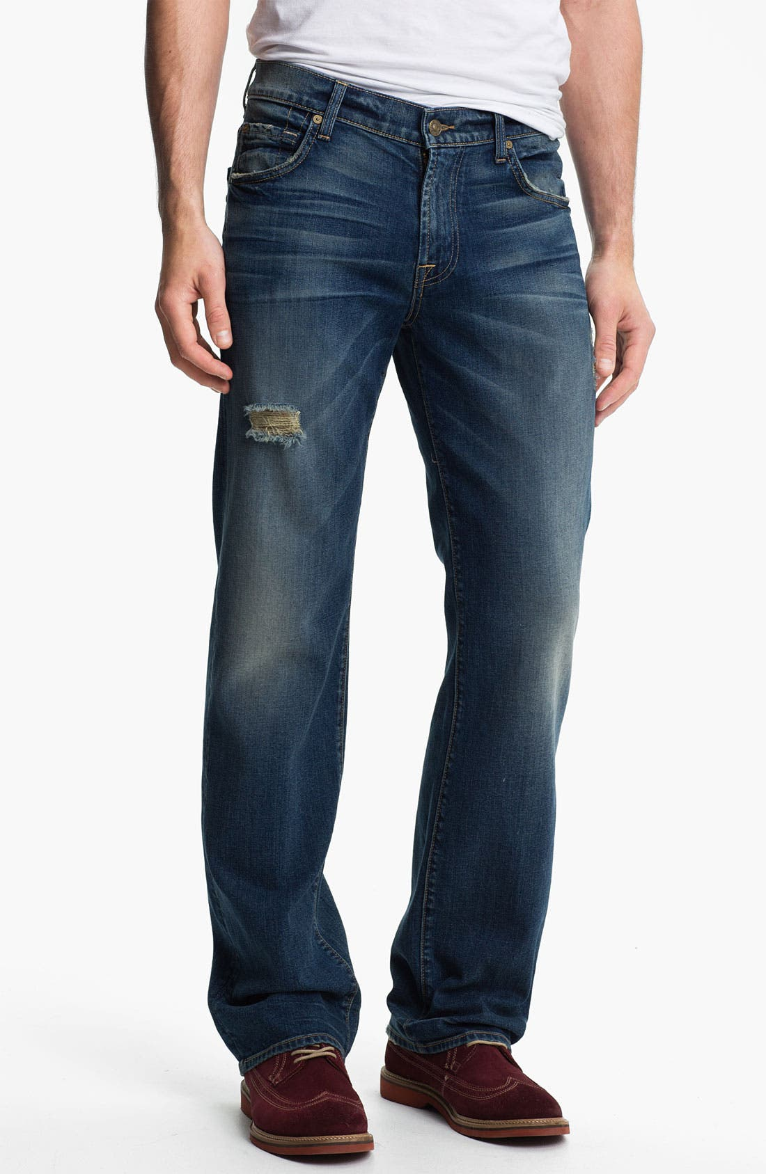 Alternate Image 1 Selected - 7 For All Mankind® 'Austyn' Relaxed Straight Leg Jeans (Ocean Mist)