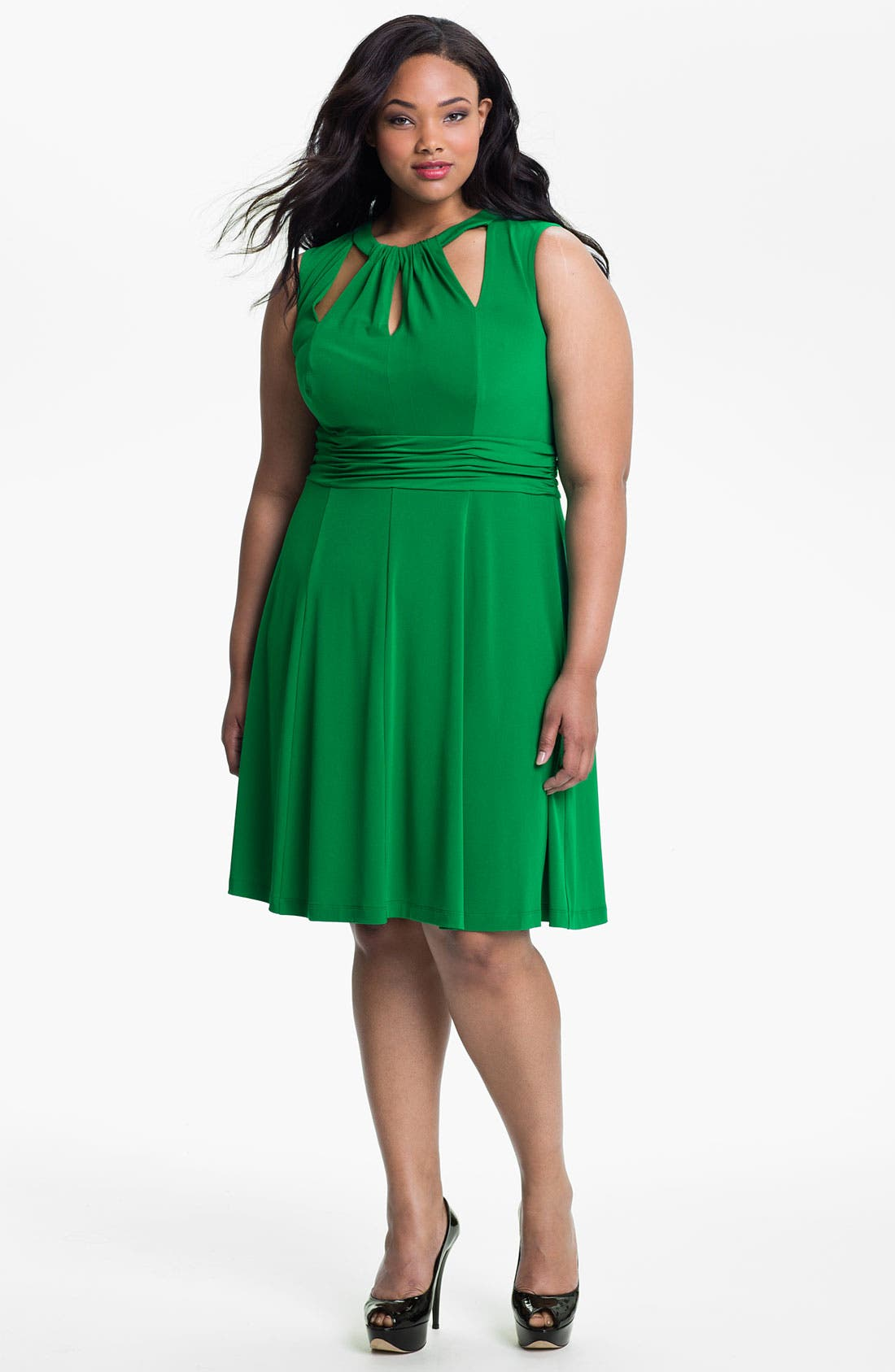 Alternate Image 1 Selected - Donna Ricco Cutout Sleeveless Dress (Plus)