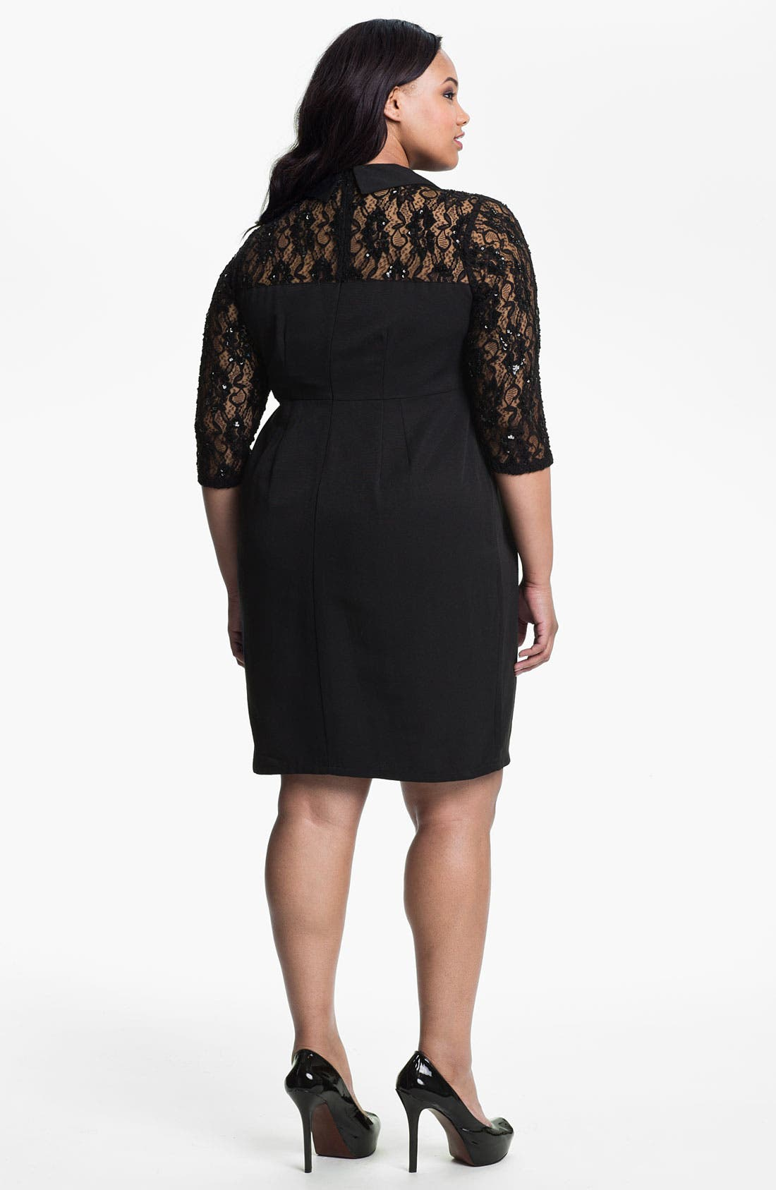 Alternate Image 2  - Evans 'Rebecca' Dress (Plus Size)