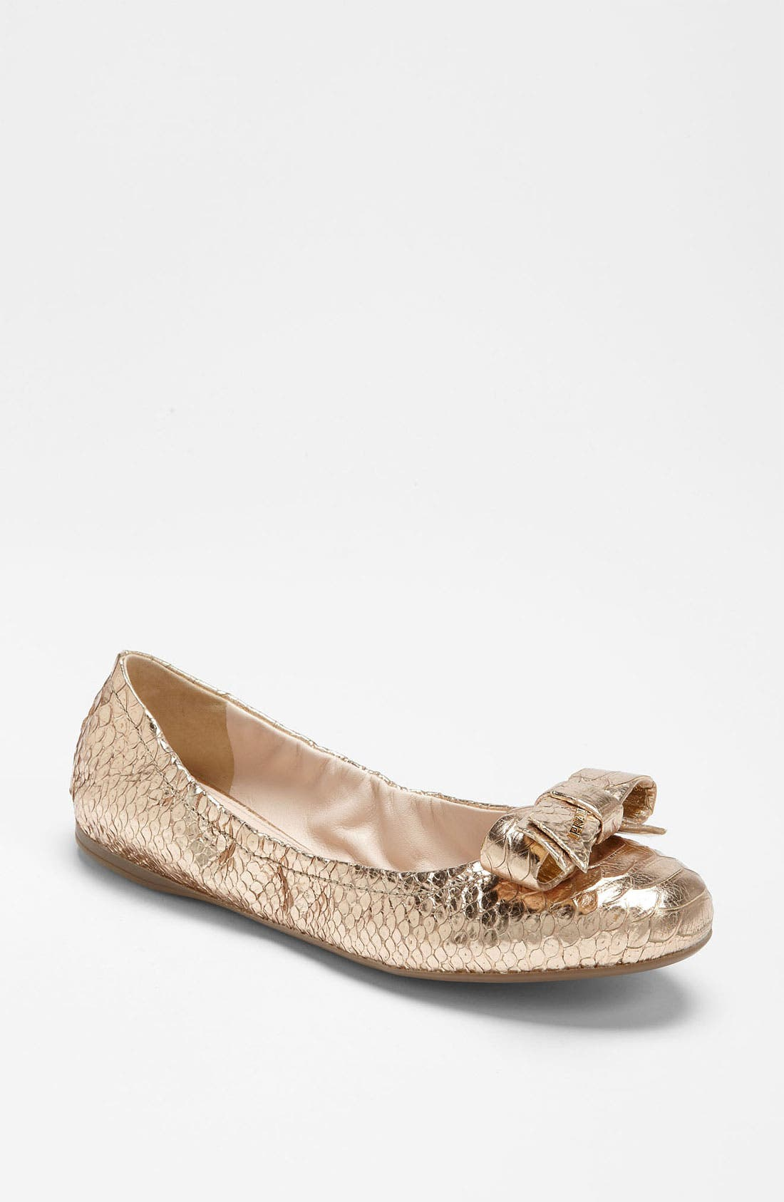 Alternate Image 1 Selected - Prada Faux Python Ballet Flat
