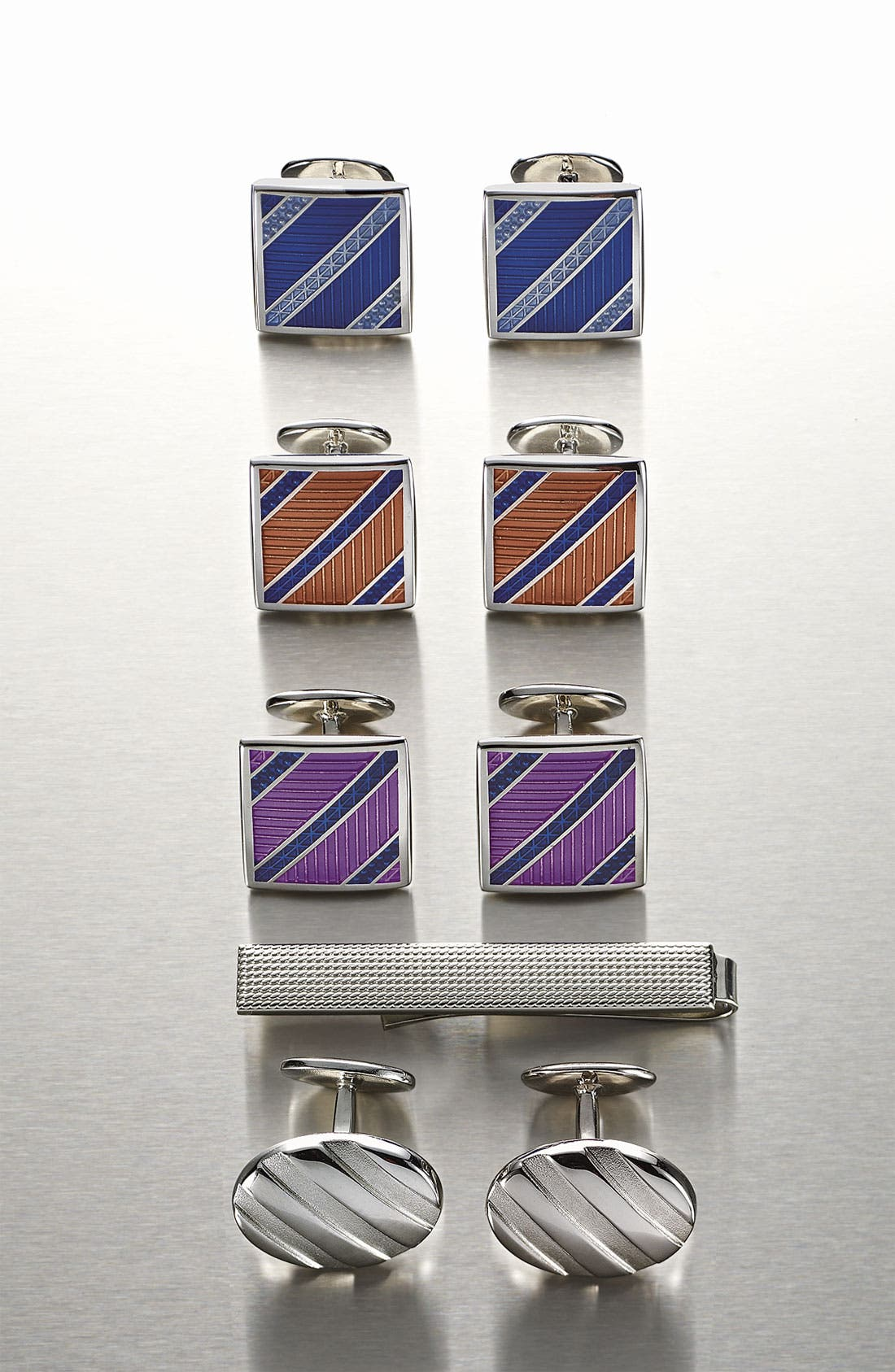 Alternate Image 3  - David Donahue Sterling Silver Tie Clip