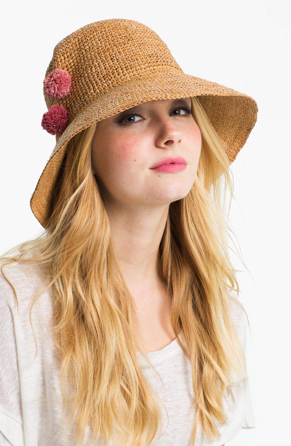 Alternate Image 1 Selected - Flora Bella Crochet Raffia Hat