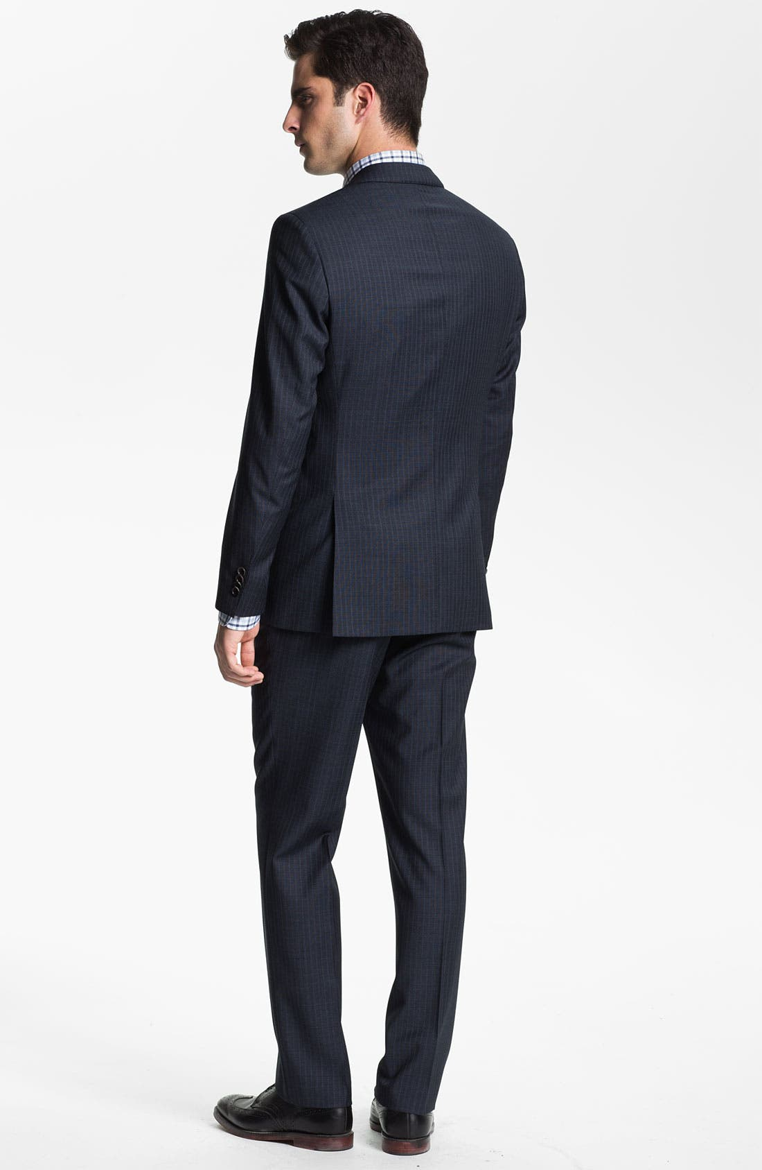 Alternate Image 3  - BOSS Black 'James/Sharp' Trim Fit Stripe Suit
