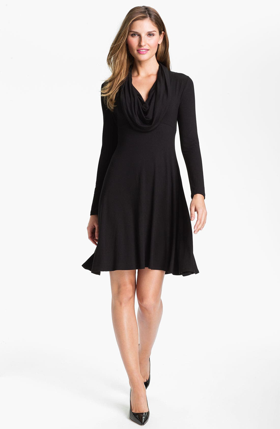 Main Image - Karen Kane Drape Neck Dress (Online Exclusive)