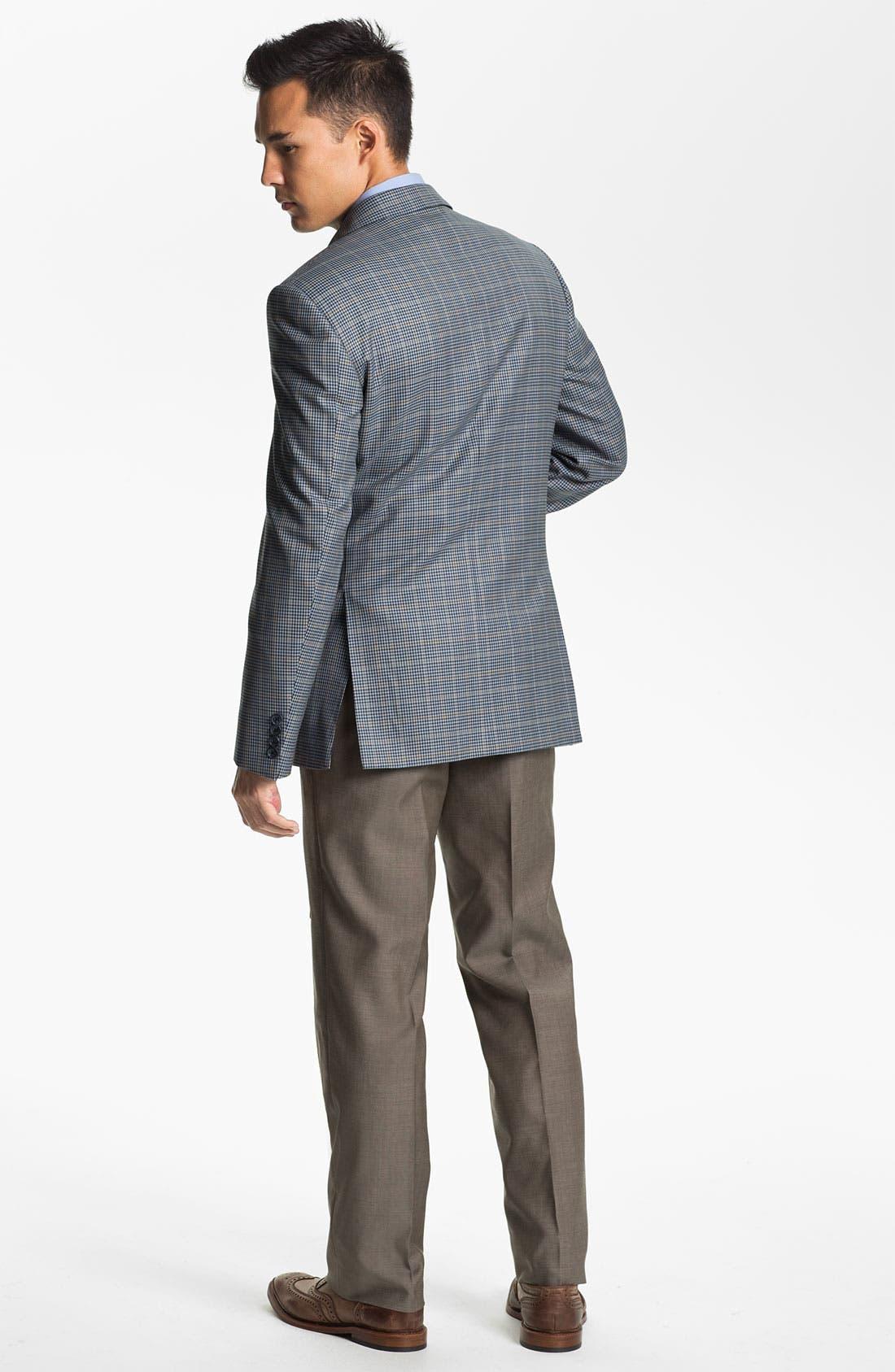 Alternate Image 5  - BOSS HUGO BOSS 'Jeffrey US' Flat Front Pinpoint Wool Trousers