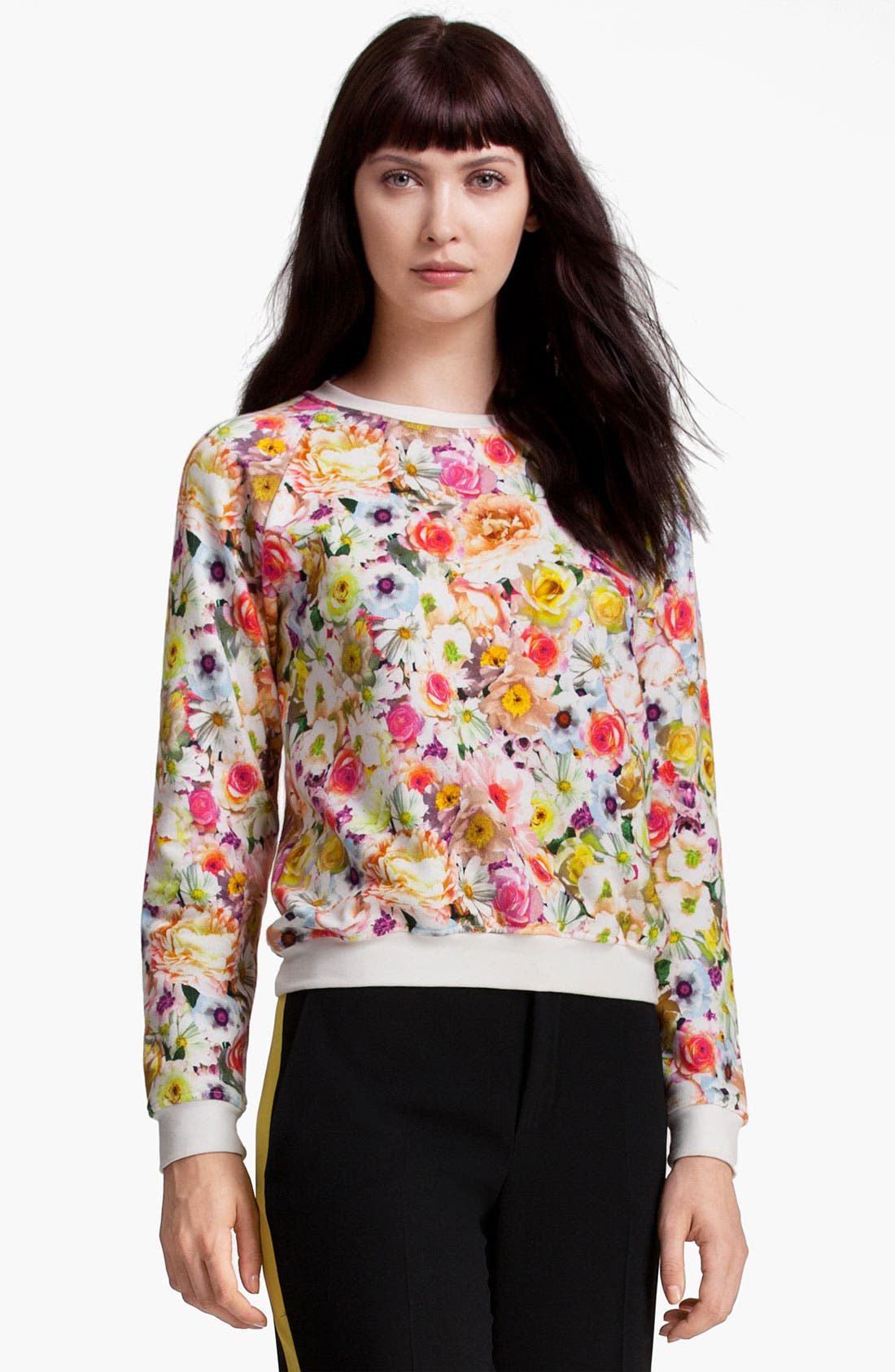 Alternate Image 1 Selected - MSGM Floral Print Sweatshirt
