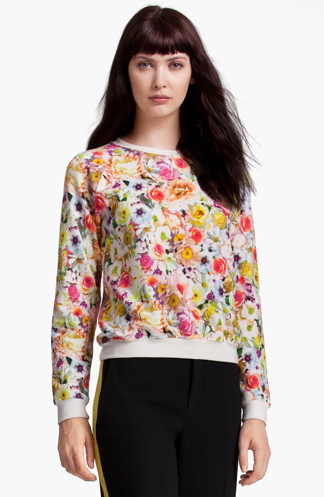Main Image - MSGM Floral Print Sweatshirt