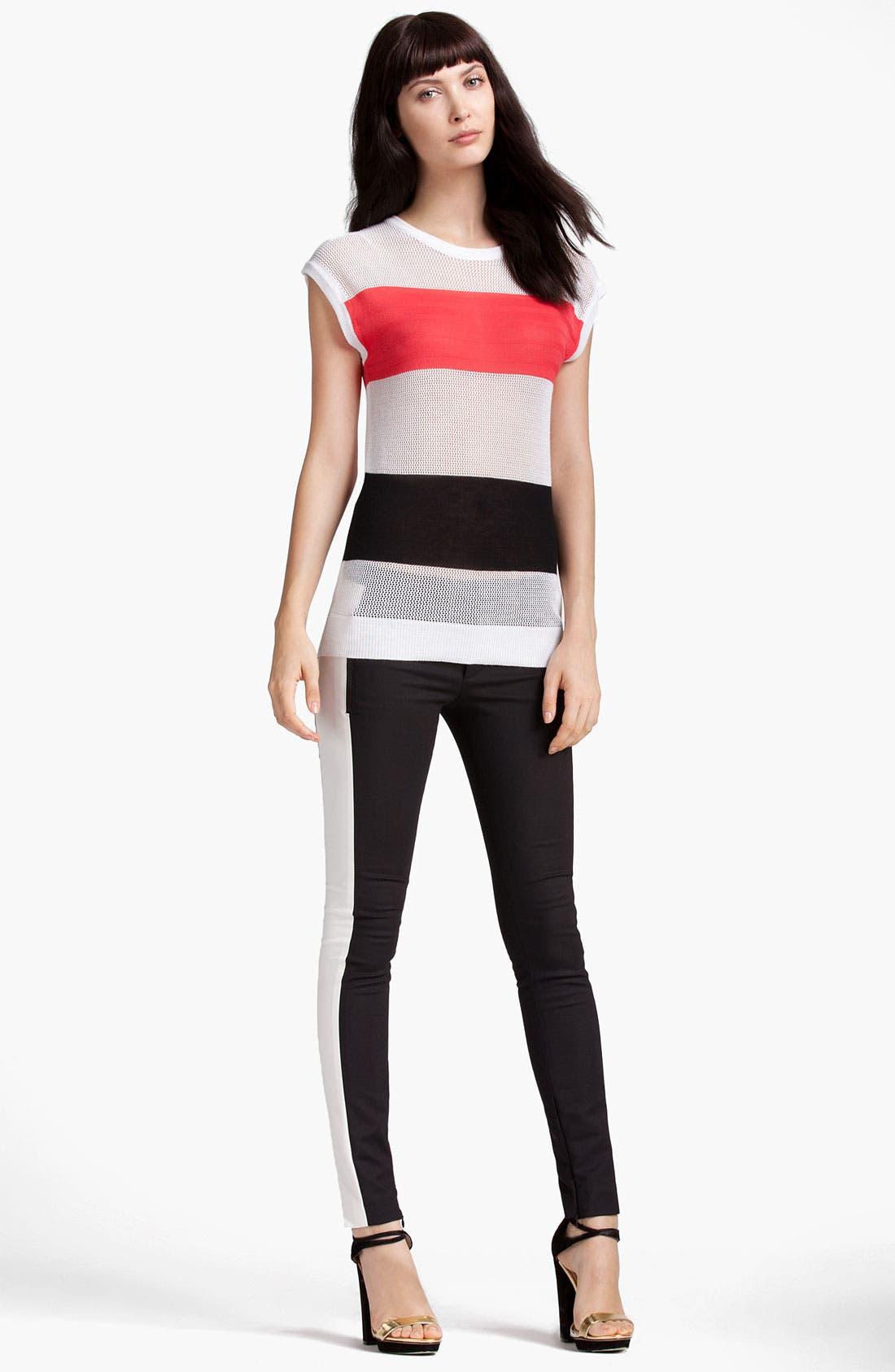 Alternate Image 4  - MSGM Colorblock Stripe Sweater