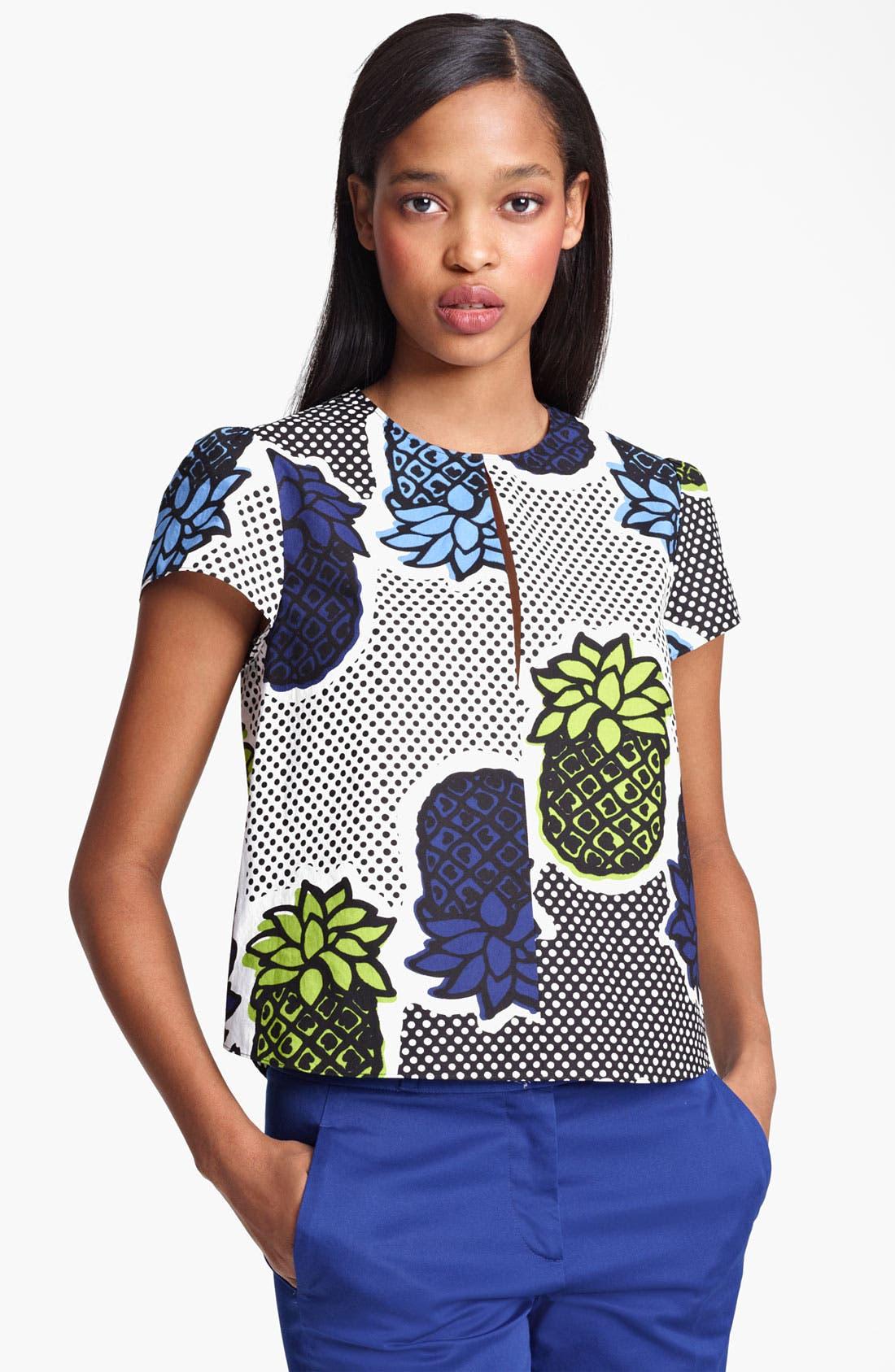 Main Image - Moschino Cheap & Chic Pineapple Print Blouse