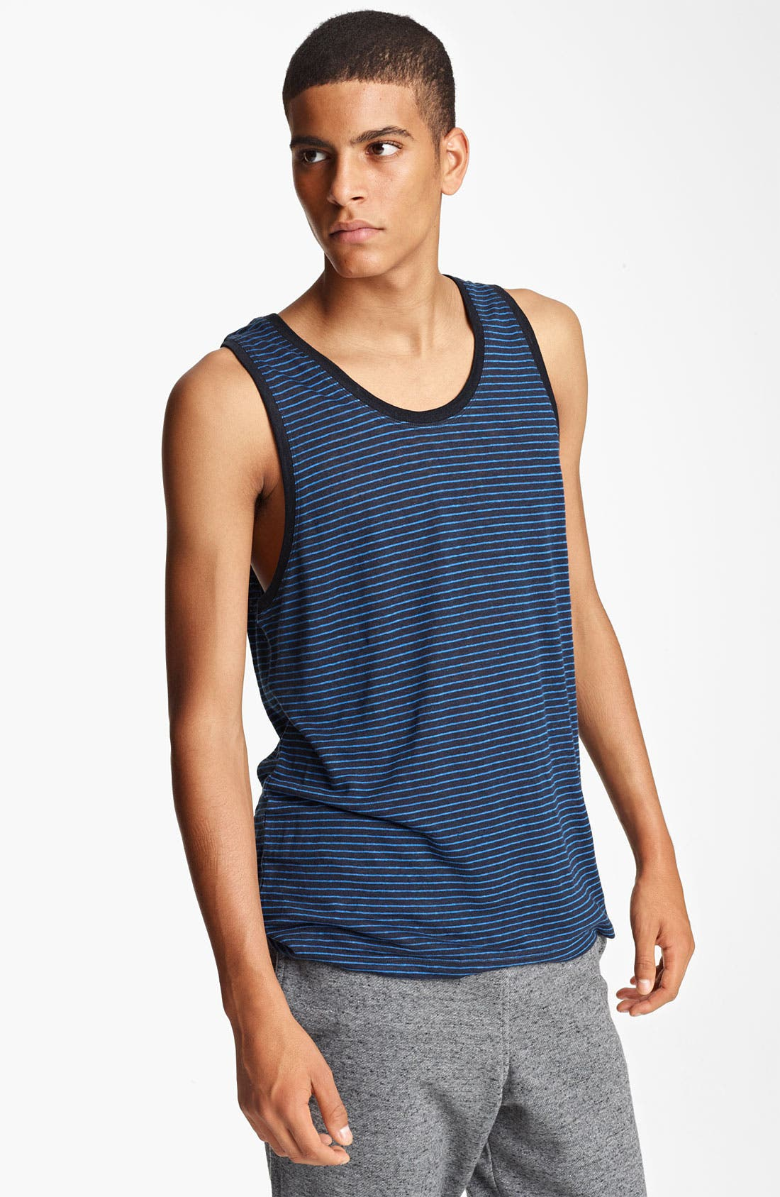 Alternate Image 1 Selected - T by Alexander Wang Stripe Jersey Tank Top
