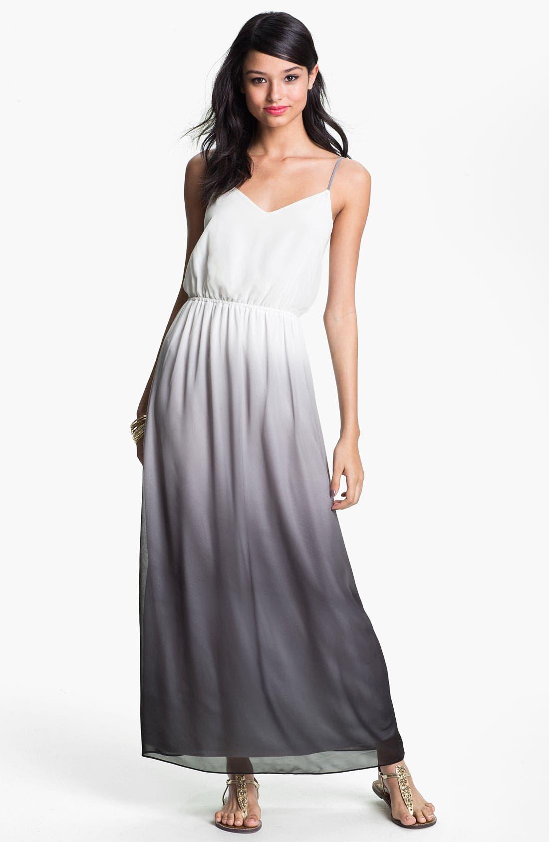 Alternate Image 1 Selected - Soprano Chiffon Maxi Dress (Juniors)