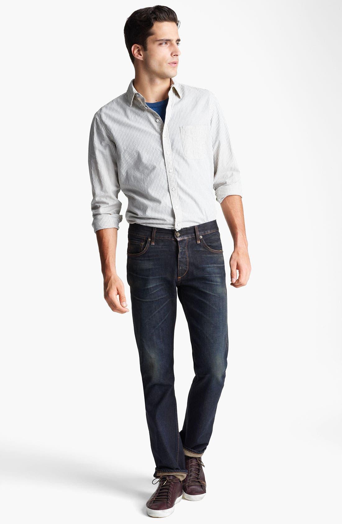 Alternate Image 4  - rag & bone Stripe Woven Shirt