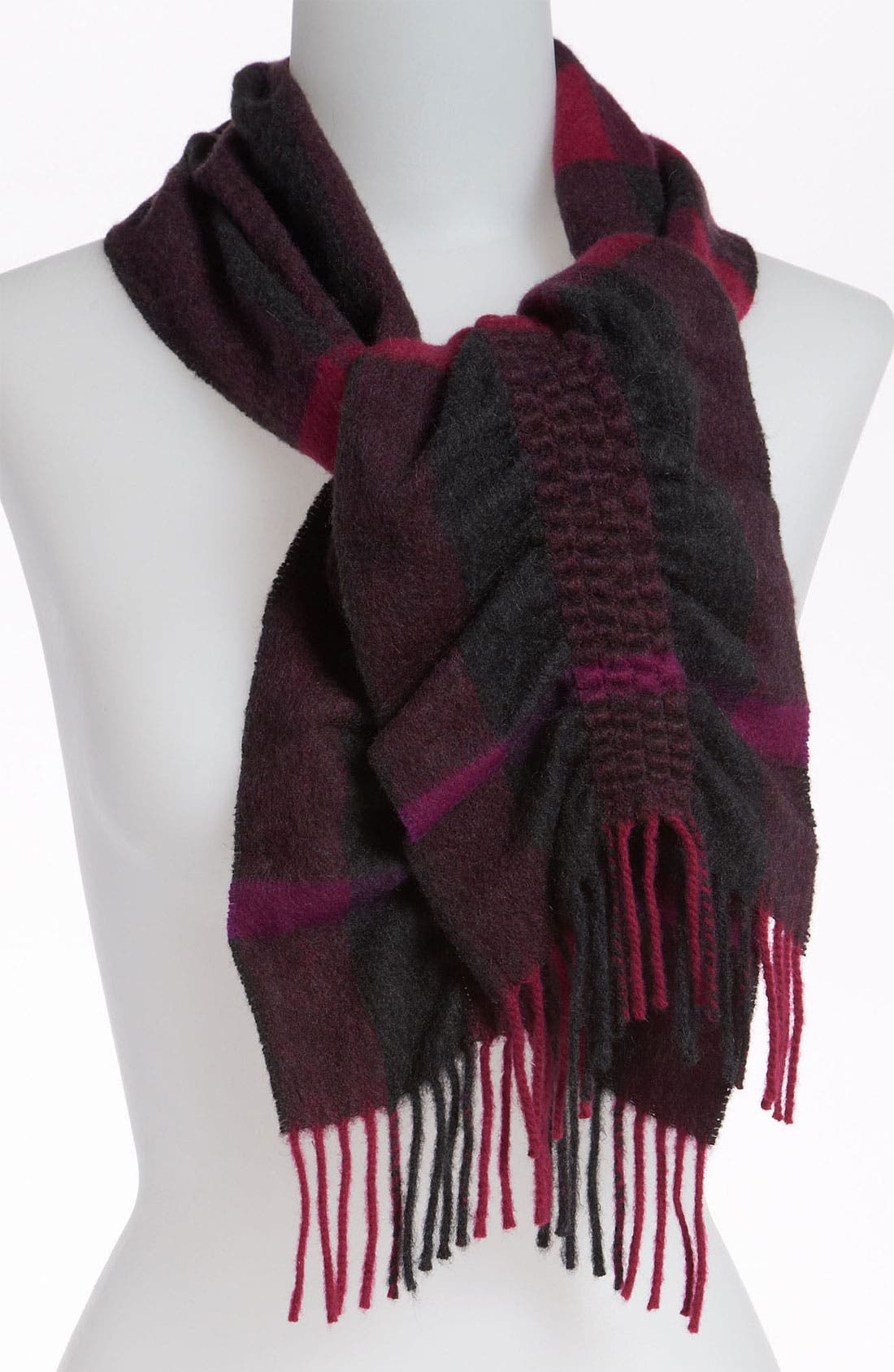 Alternate Image 1 Selected - Burberry Check Cashmere Scarf