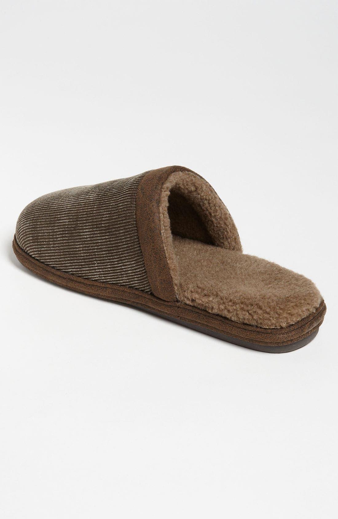 Alternate Image 2  - Tempur-Pedic® 'Corduroy Scuff' Slipper