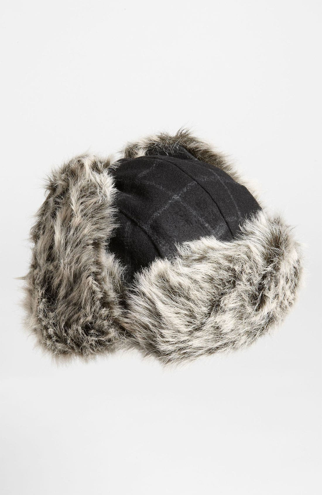 Alternate Image 2  - Free Authority Plaid Faux Fur Trapper Hat