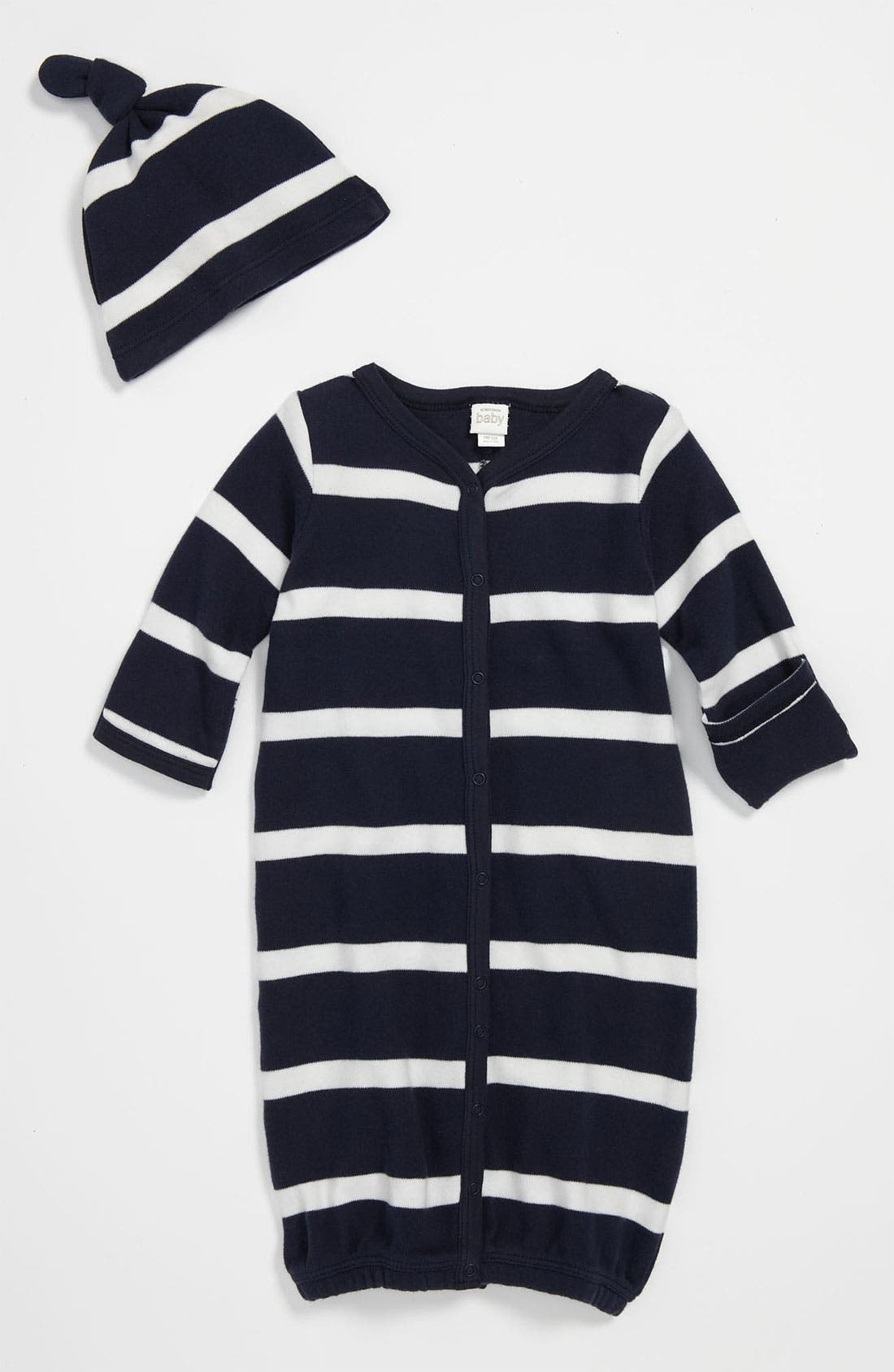 Main Image - Nordstrom Baby Convertible Gown & Hat (Baby)