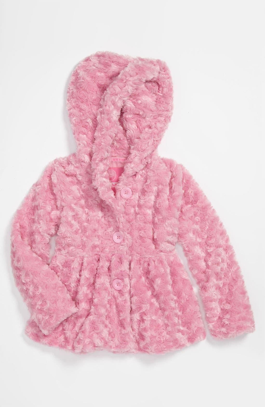 Alternate Image 1 Selected - Weatherproof® 'Rose' Plush Jacket (Little Girls)