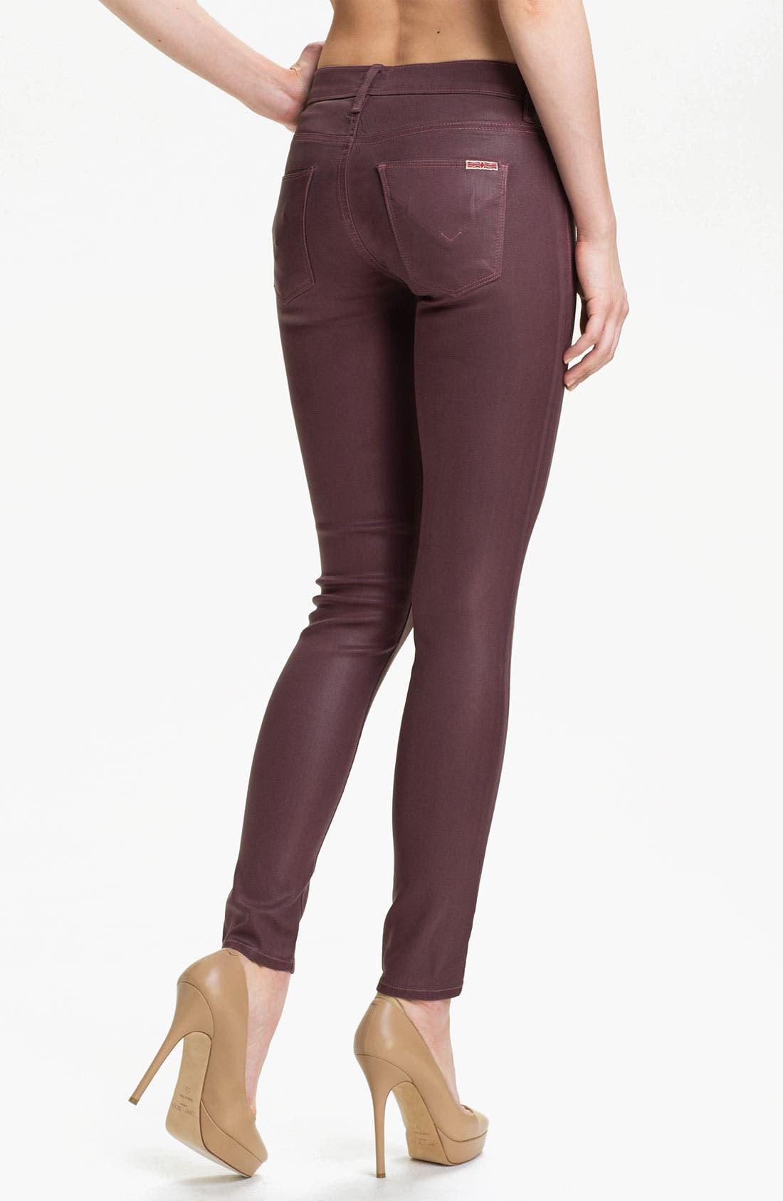 Alternate Image 2  - Hudson Jeans 'Krista' Super Skinny Jeans (Steady As She Goes Wax)
