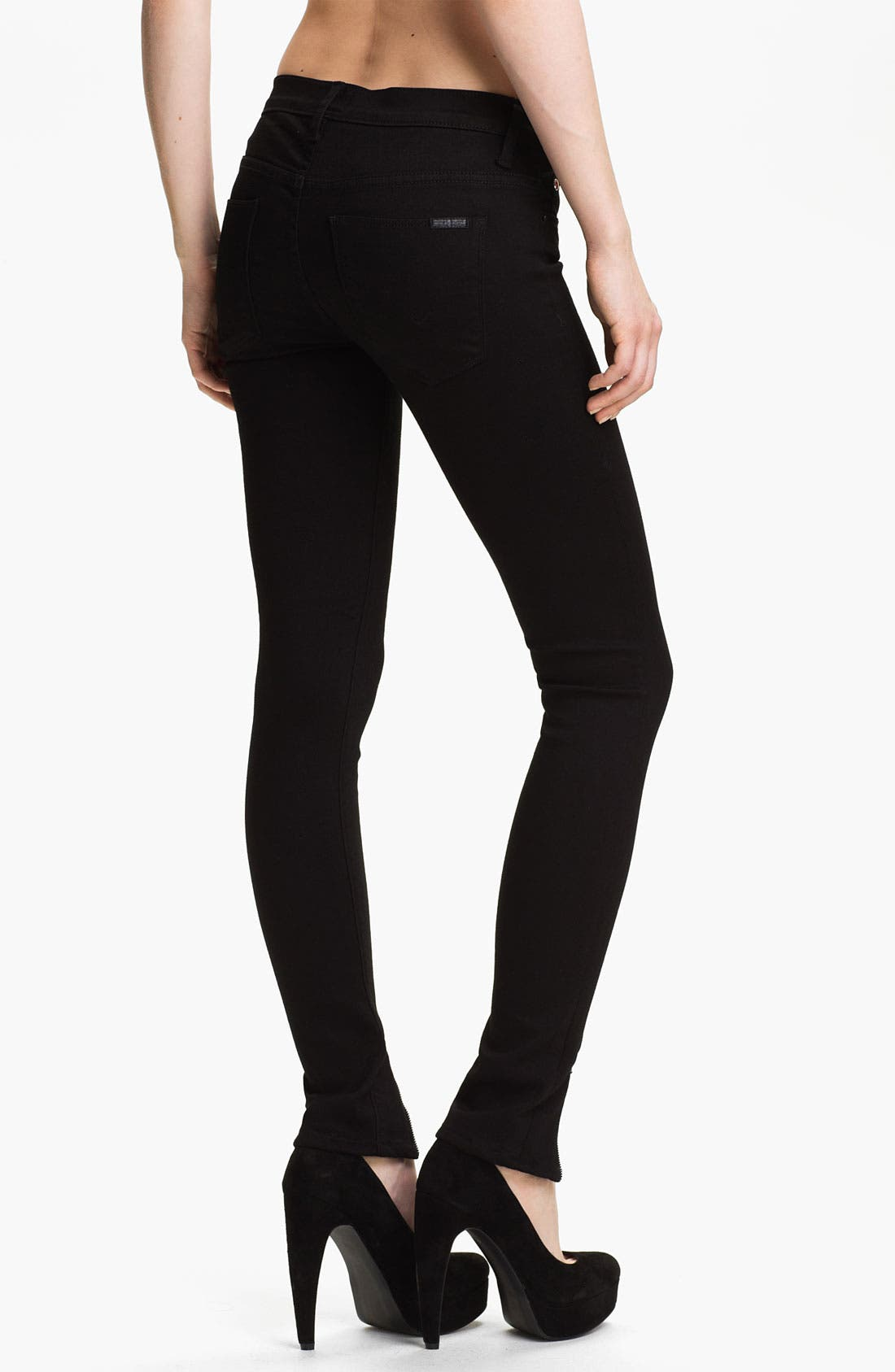 Alternate Image 2  - Hudson Jeans 'Juliette' Ankle Zip Super Skinny Jeans (Black)