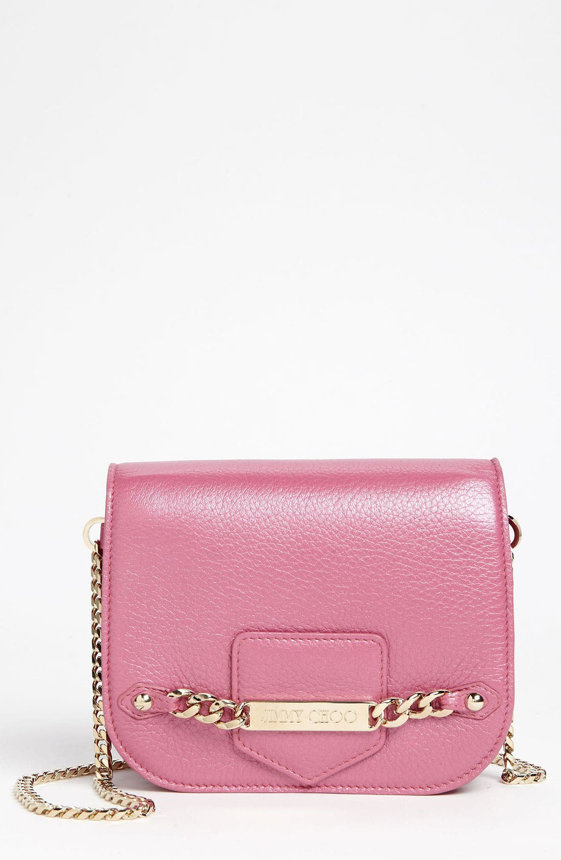 Main Image - Jimmy Choo 'Shadow' Pearlized Leather Crossbody Bag