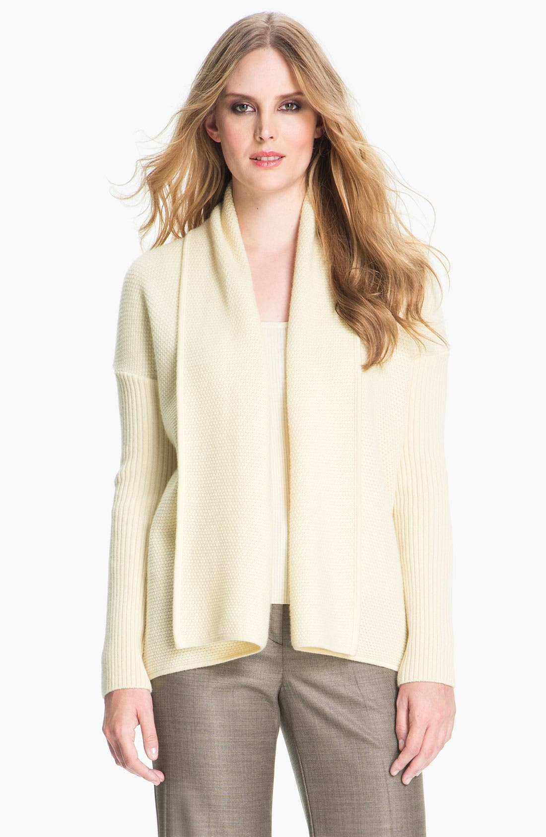 Alternate Image 1 Selected - St. John Yellow Label Popcorn Knit Cashmere Cardigan