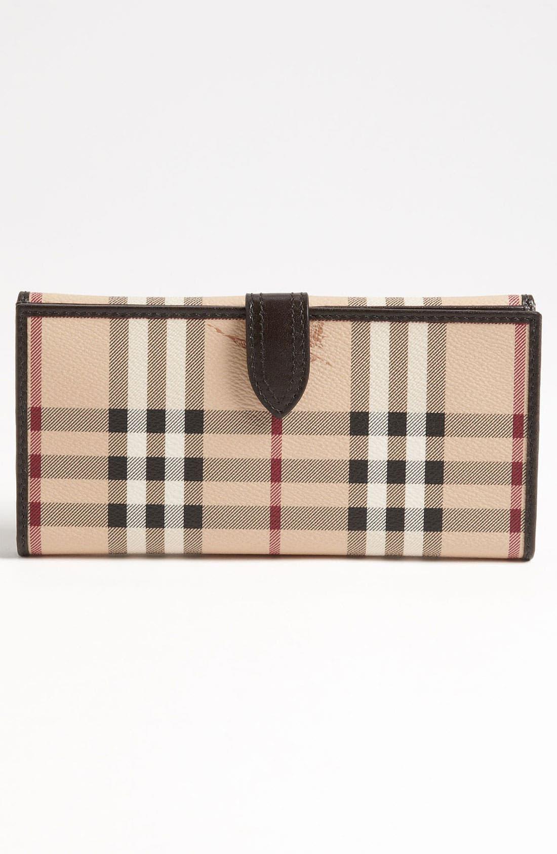 Alternate Image 4  - Burberry 'Haymarket Check' Checkbook Wallet