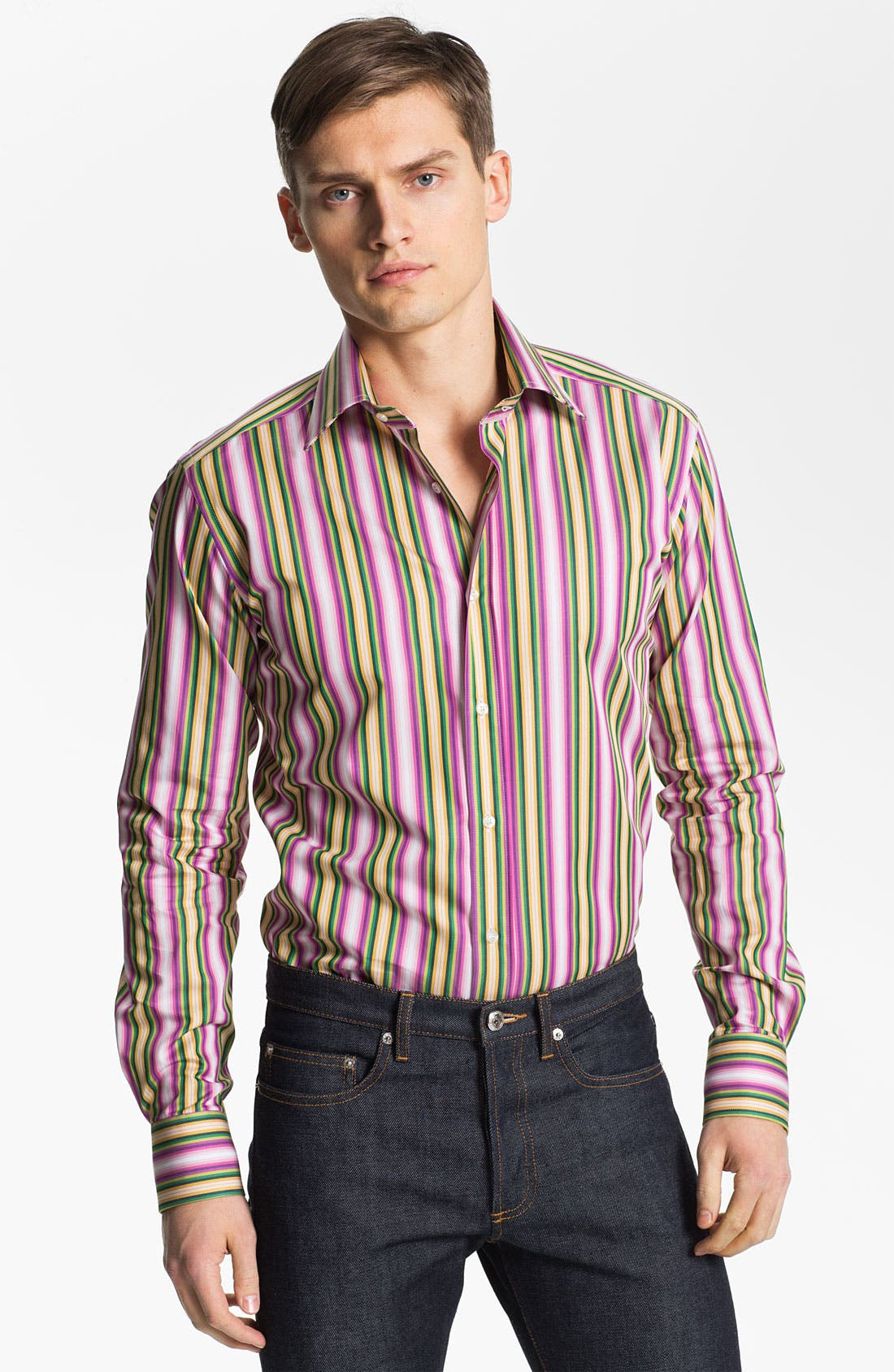 Alternate Image 1 Selected - Etro Stripe Print Shirt
