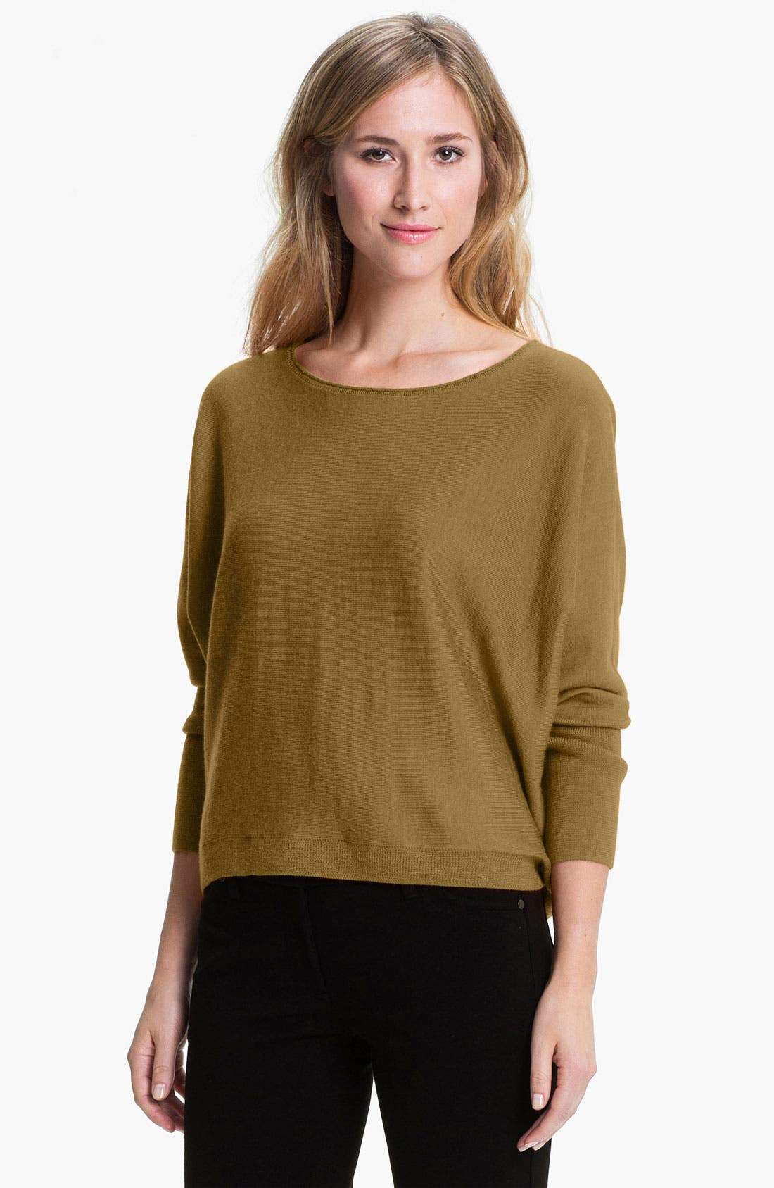 Alternate Image 1 Selected - Eileen Fisher Boxy Merino Jersey Sweater