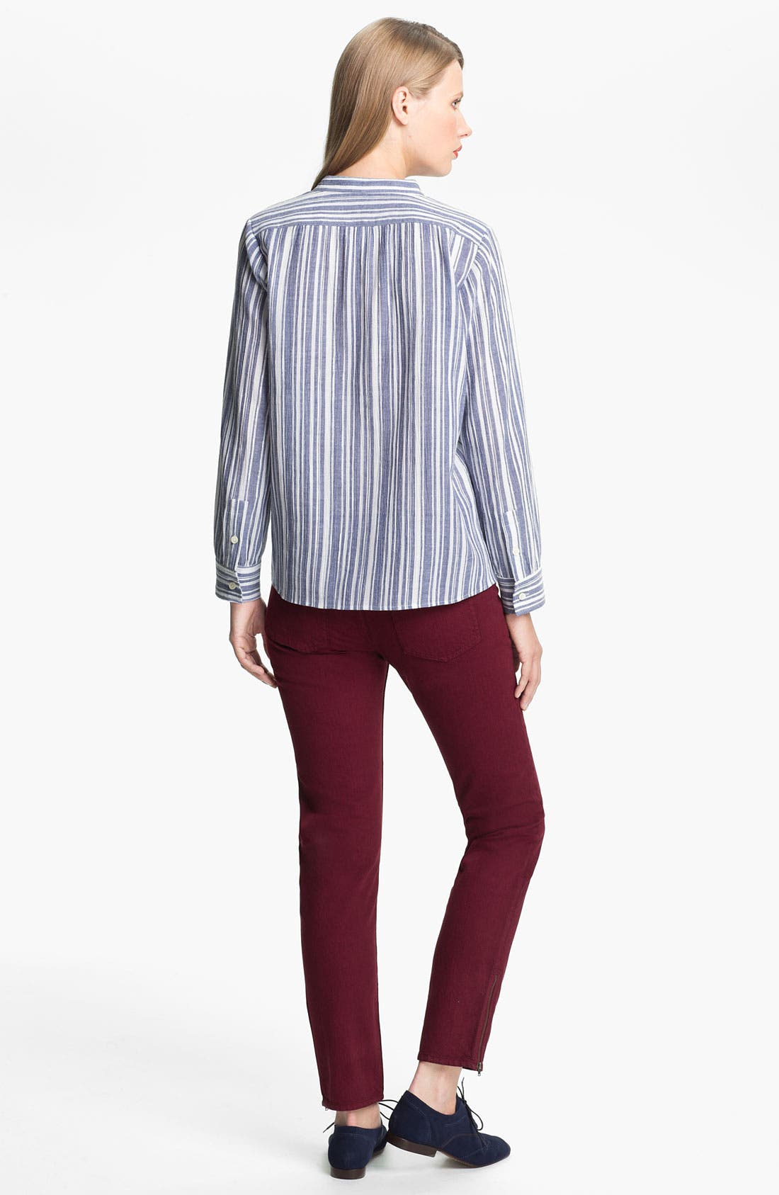 Alternate Image 2  - A.P.C. Metallic Stripe Blouse