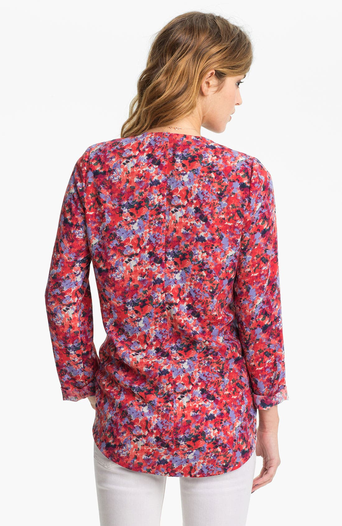 Alternate Image 2  - Lush Print Drape Blazer (Juniors)