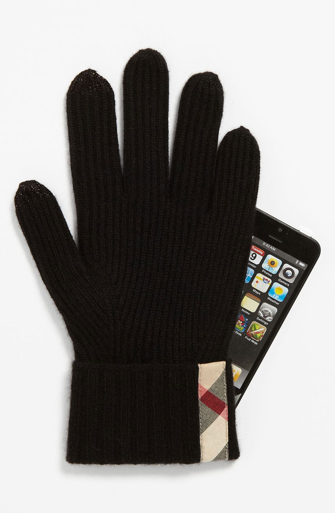 Alternate Image 2  - Burberry Touch Screen Cashmere Gloves