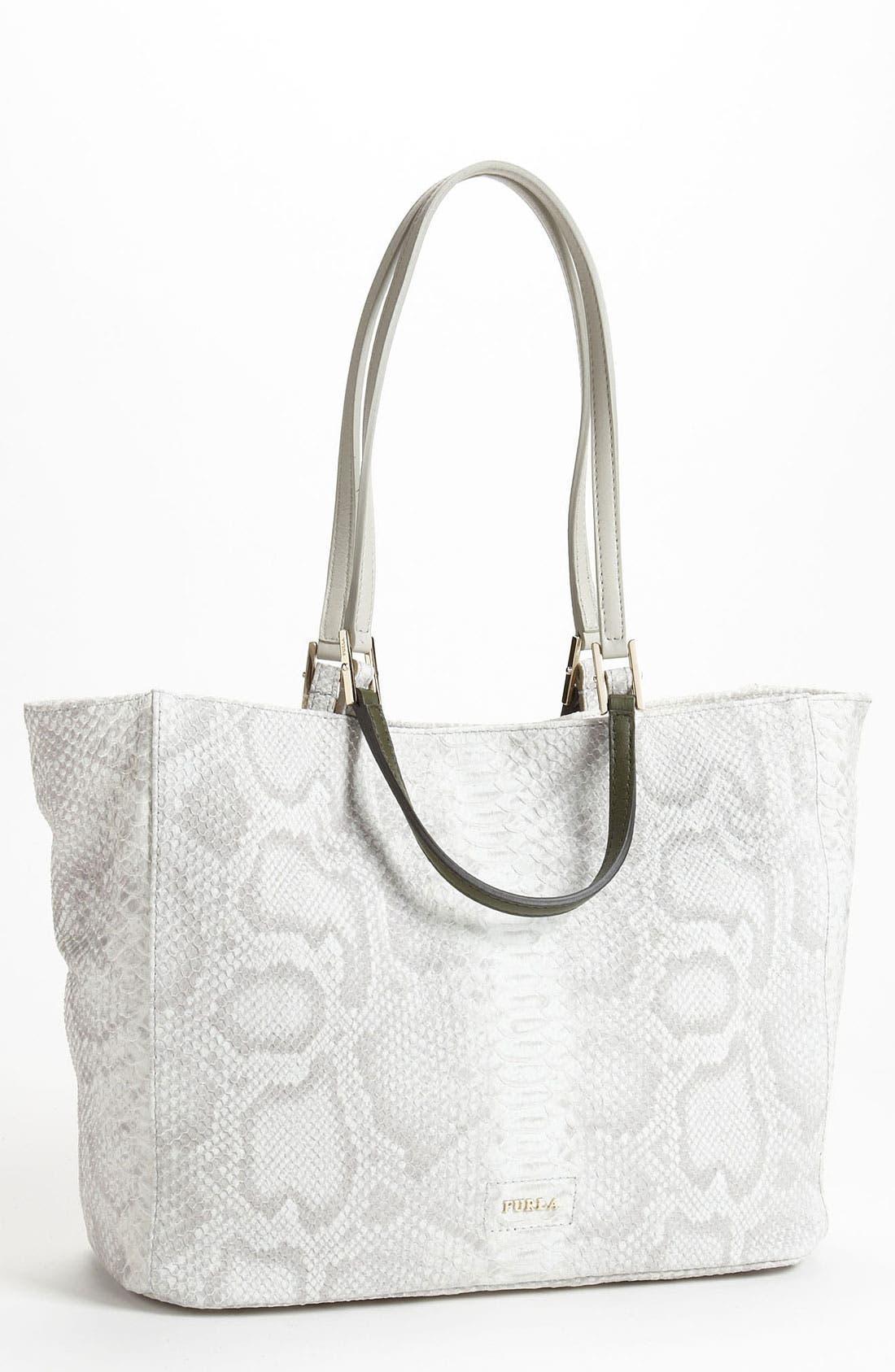 Main Image - Furla 'Gemini M' Snake Embossed Shopper