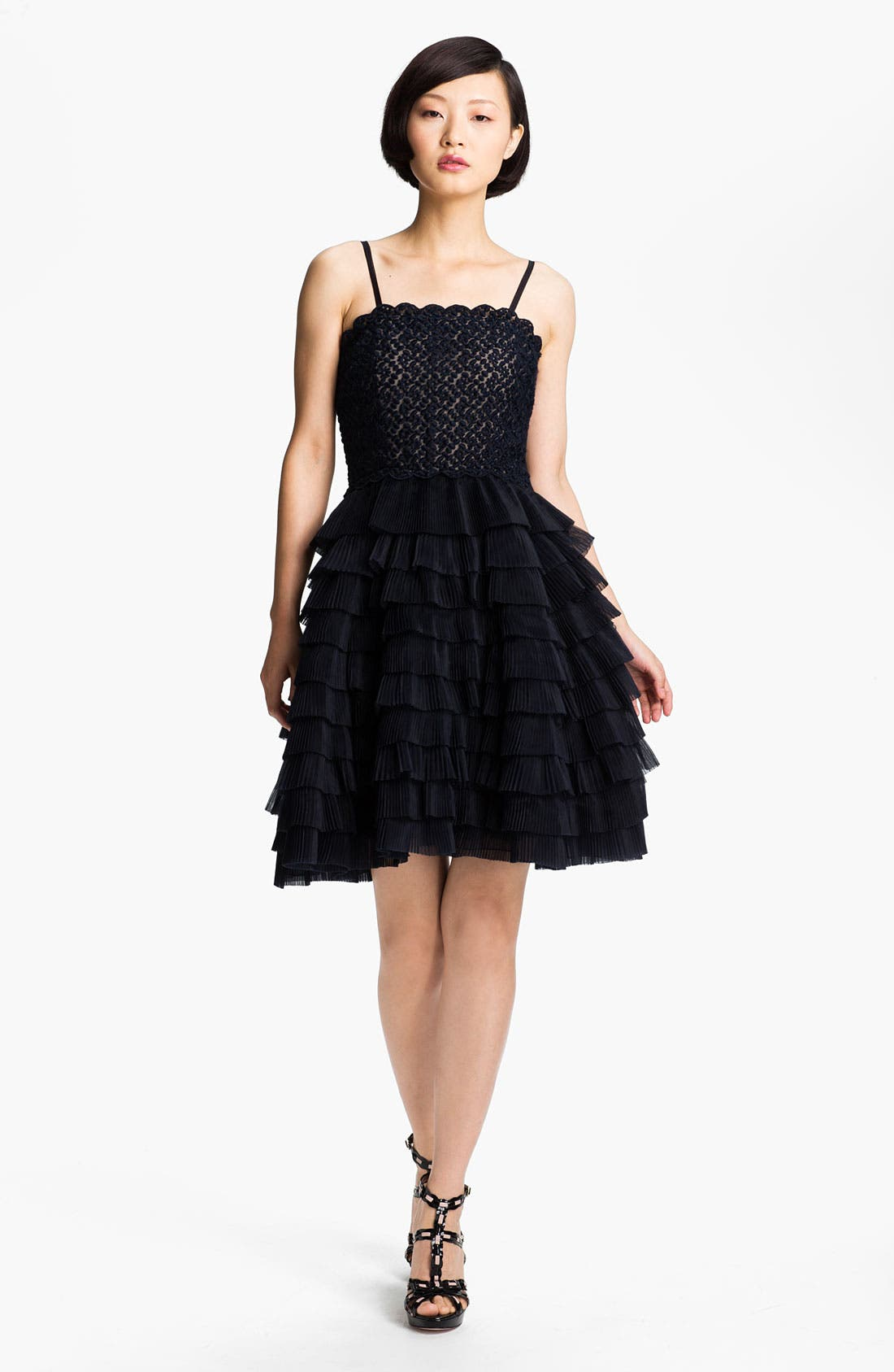 Alternate Image 1 Selected - RED Valentino Full Skirt Organza Dress