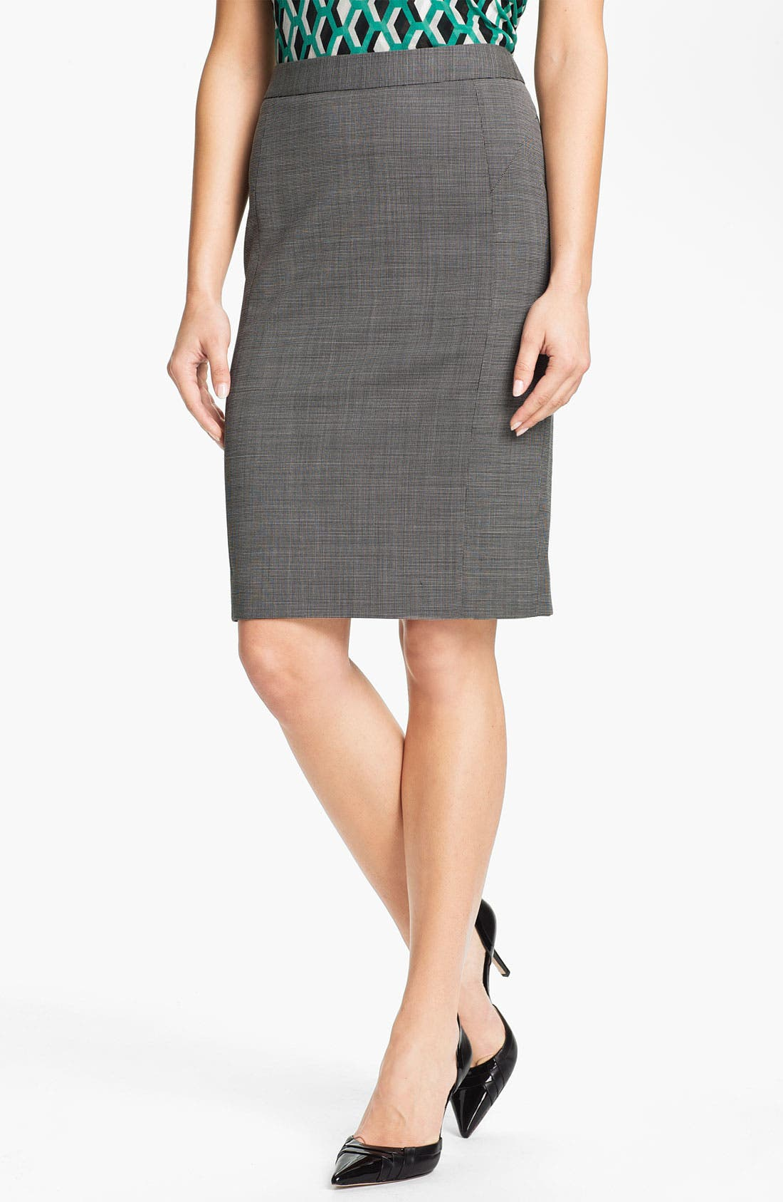 Alternate Image 1 Selected - Classiques Entier® Tropical Wool Pencil Skirt