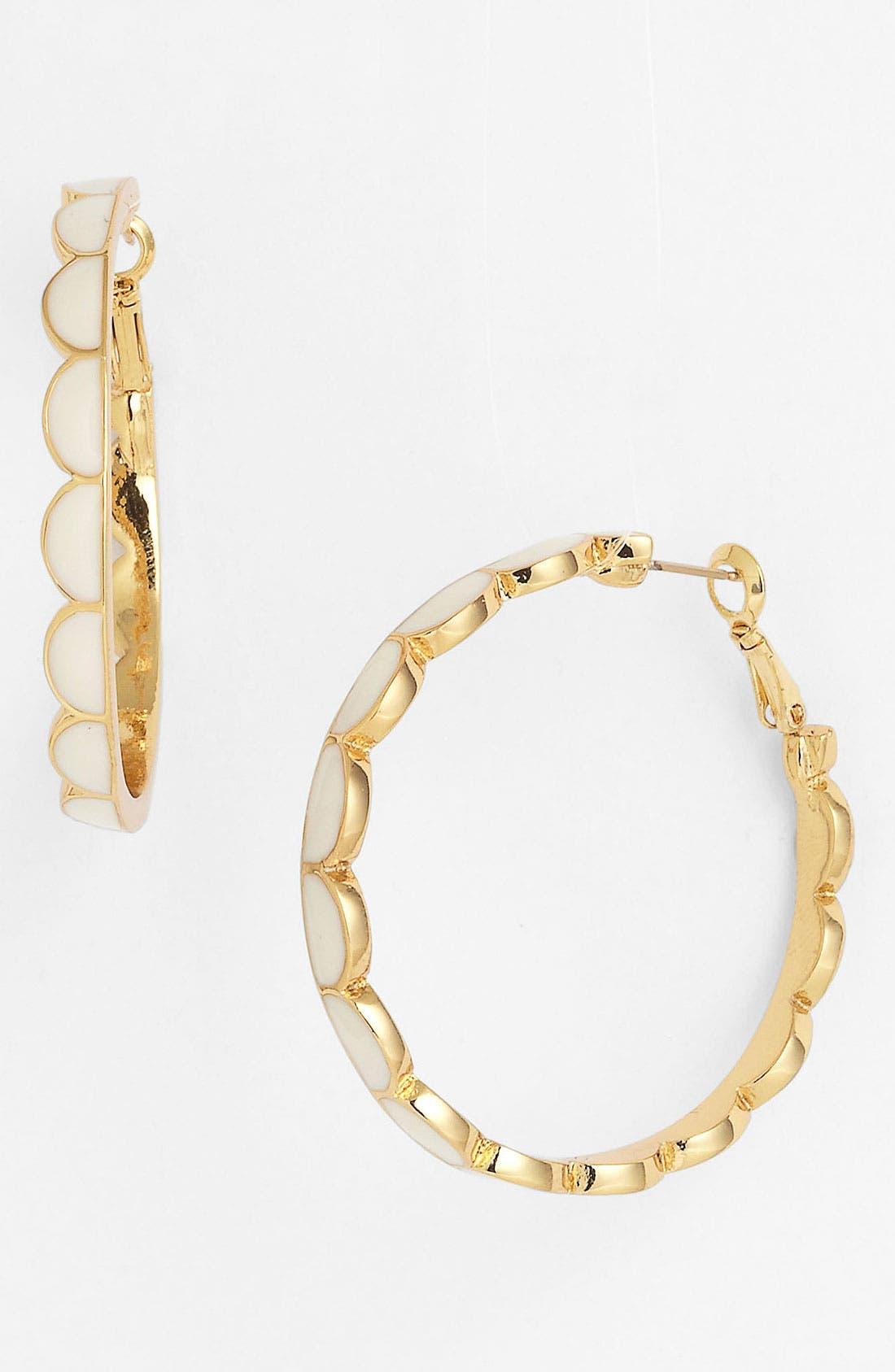 Main Image - kate spade new york 'scallop' hoop earrings