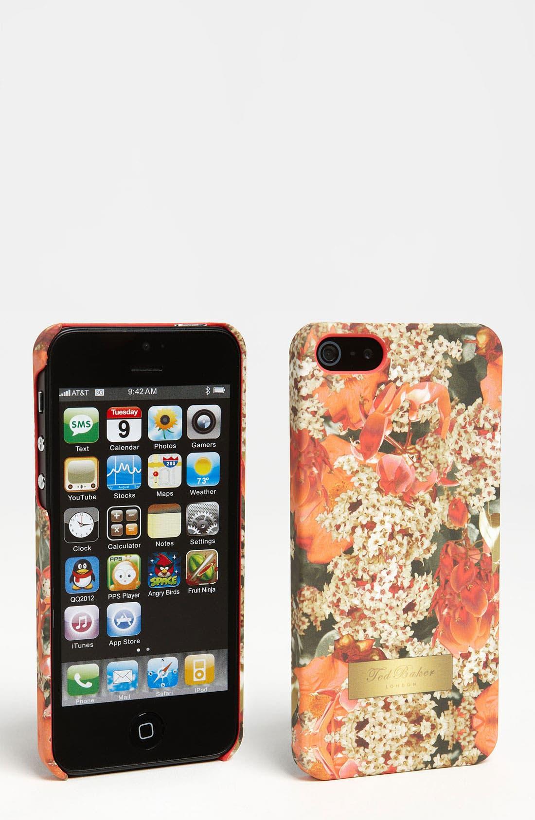 Alternate Image 1 Selected - Ted Baker London 'Digital Bloom' iPhone 5 Case