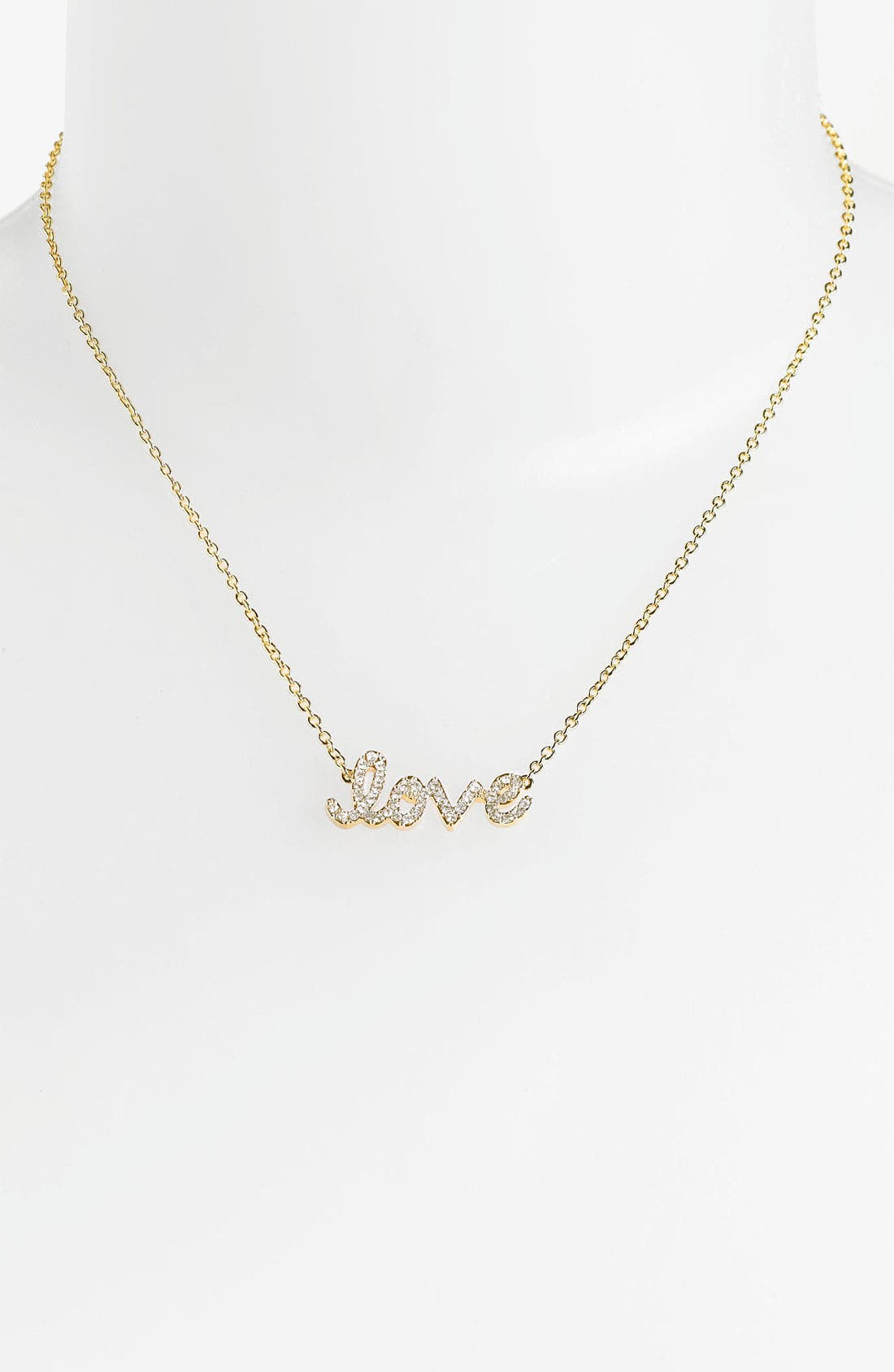 Main Image - Ariella Collection 'Messages - Love' Script Pendant Necklace