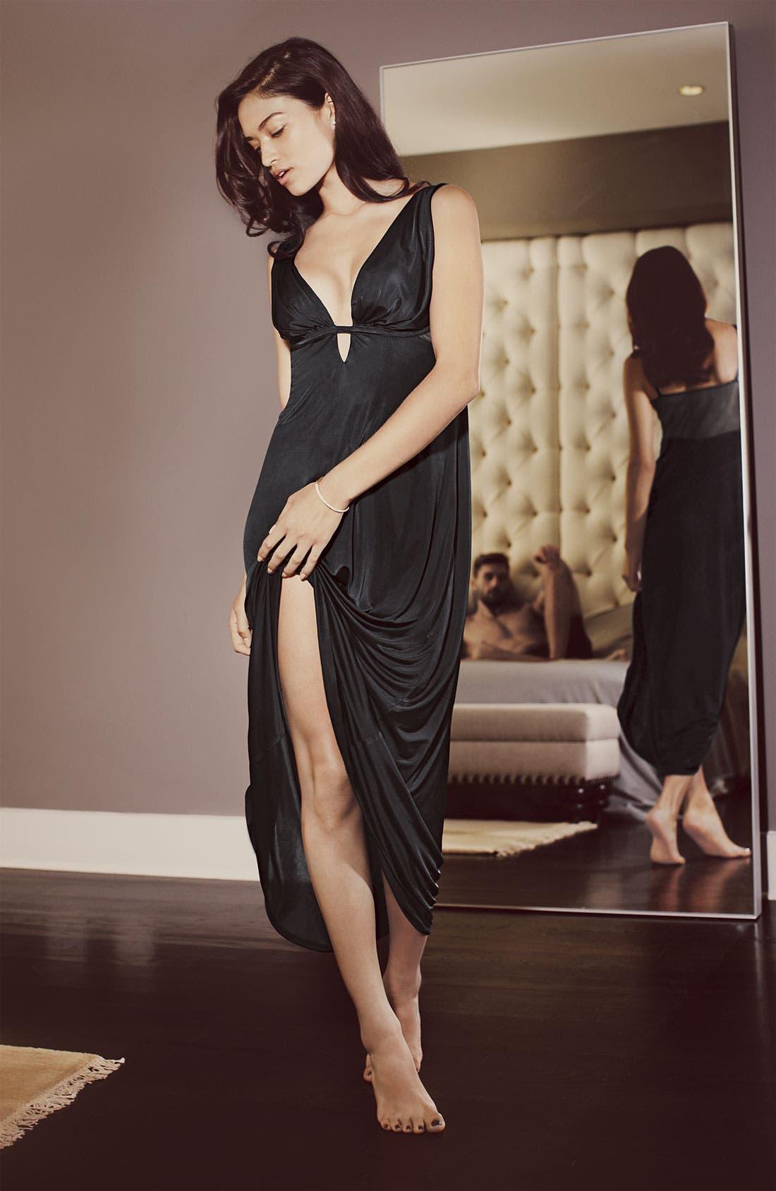Alternate Image 4  - Natori 'Aphrodite' Sheer Back Nightgown
