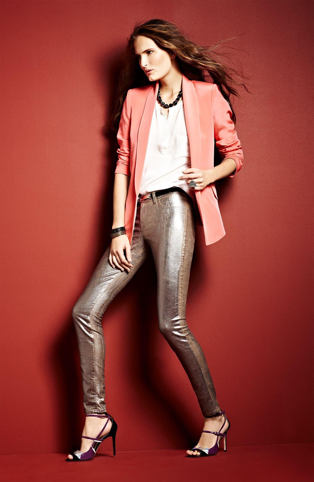 Alternate Image 8  - Truth and Pride Shawl Collar Silk Blazer