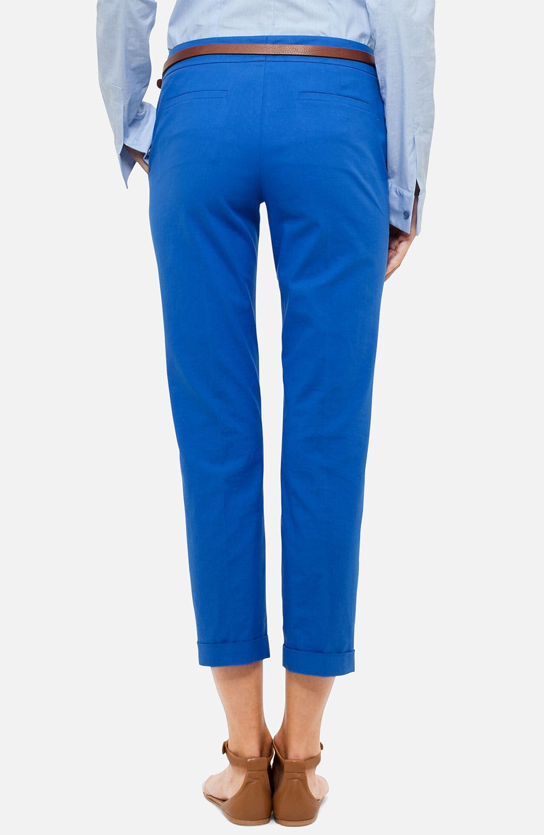 Alternate Image 2  - Akris punto 'Frankie' Stretch Cotton Crop Pants