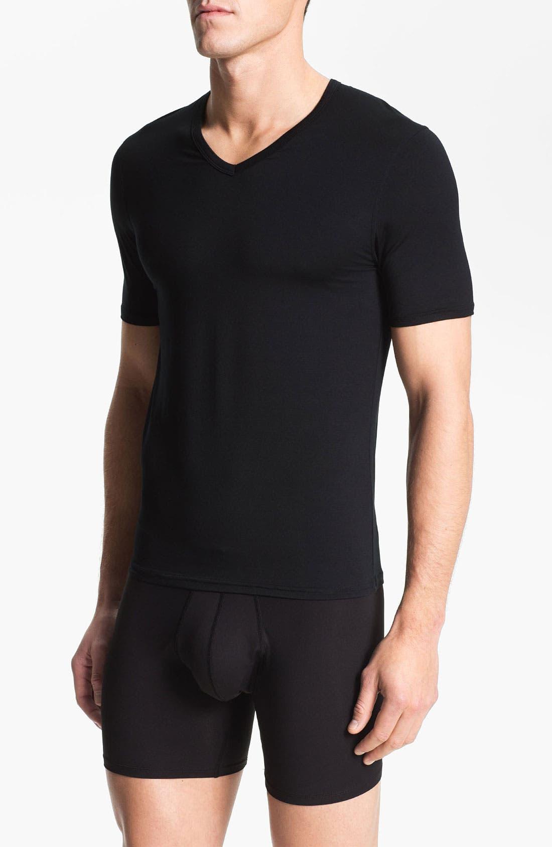 Alternate Image 1 Selected - Naked V-Neck Micromodal Undershirt