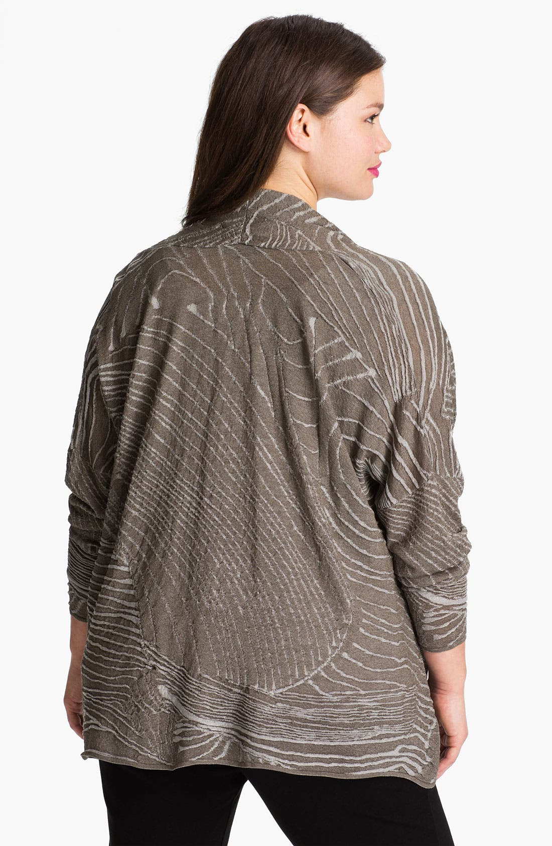 Alternate Image 2  - Lafayette 148 New York Drape Front Jacquard Cardigan