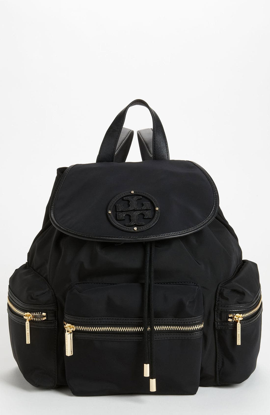 Main Image - Tory Burch Stacked Logo Backpack