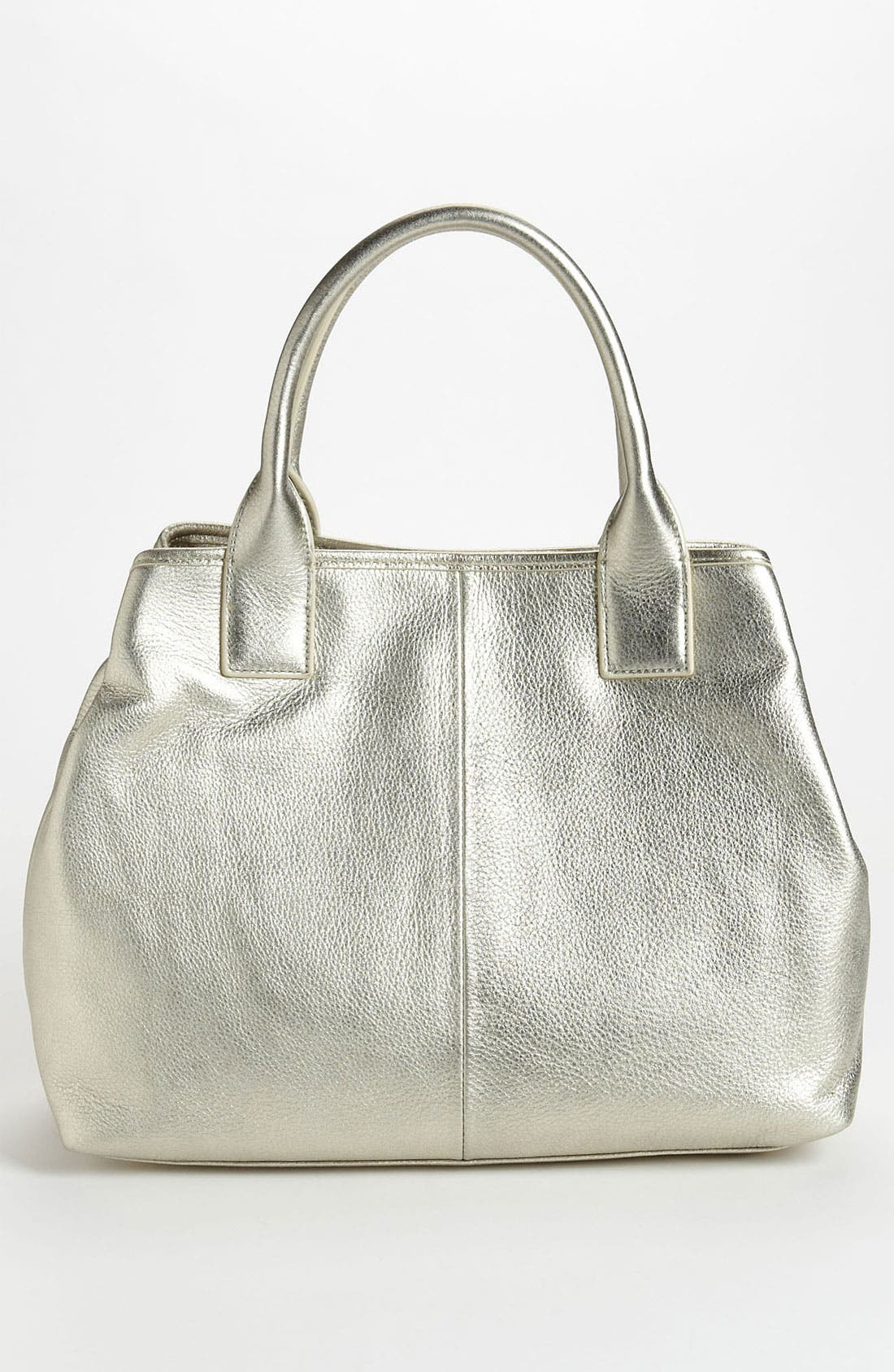 Alternate Image 4  - Tory Burch 'Small' Perforated Logo Metallic Classic Tote
