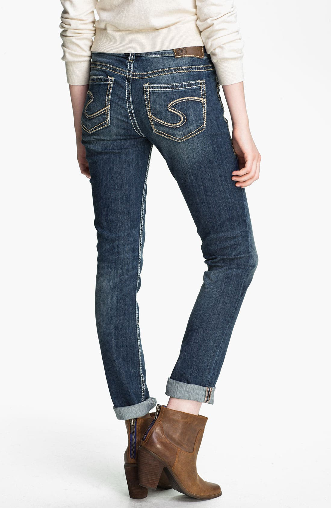 Alternate Image 1 Selected - Silver Jeans Co. 'Suki' Skinny Jeans (Juniors)